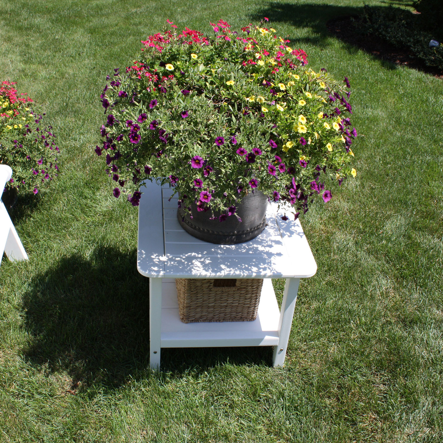 Malibu Outdoor Square End Table - 24 Inch