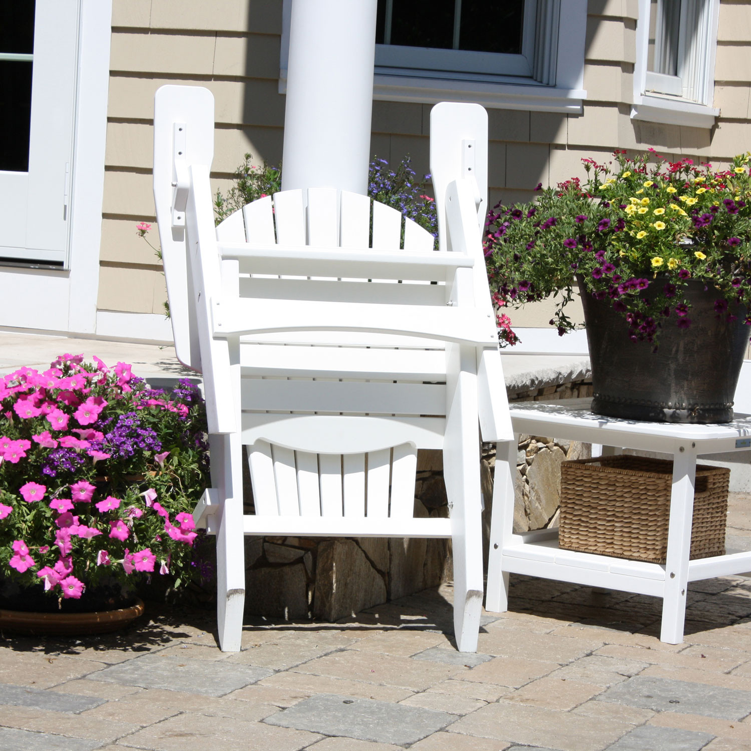 Malibu Outdoor Hyannis Folding Adirondack Chair - Malibu outdoor furniture