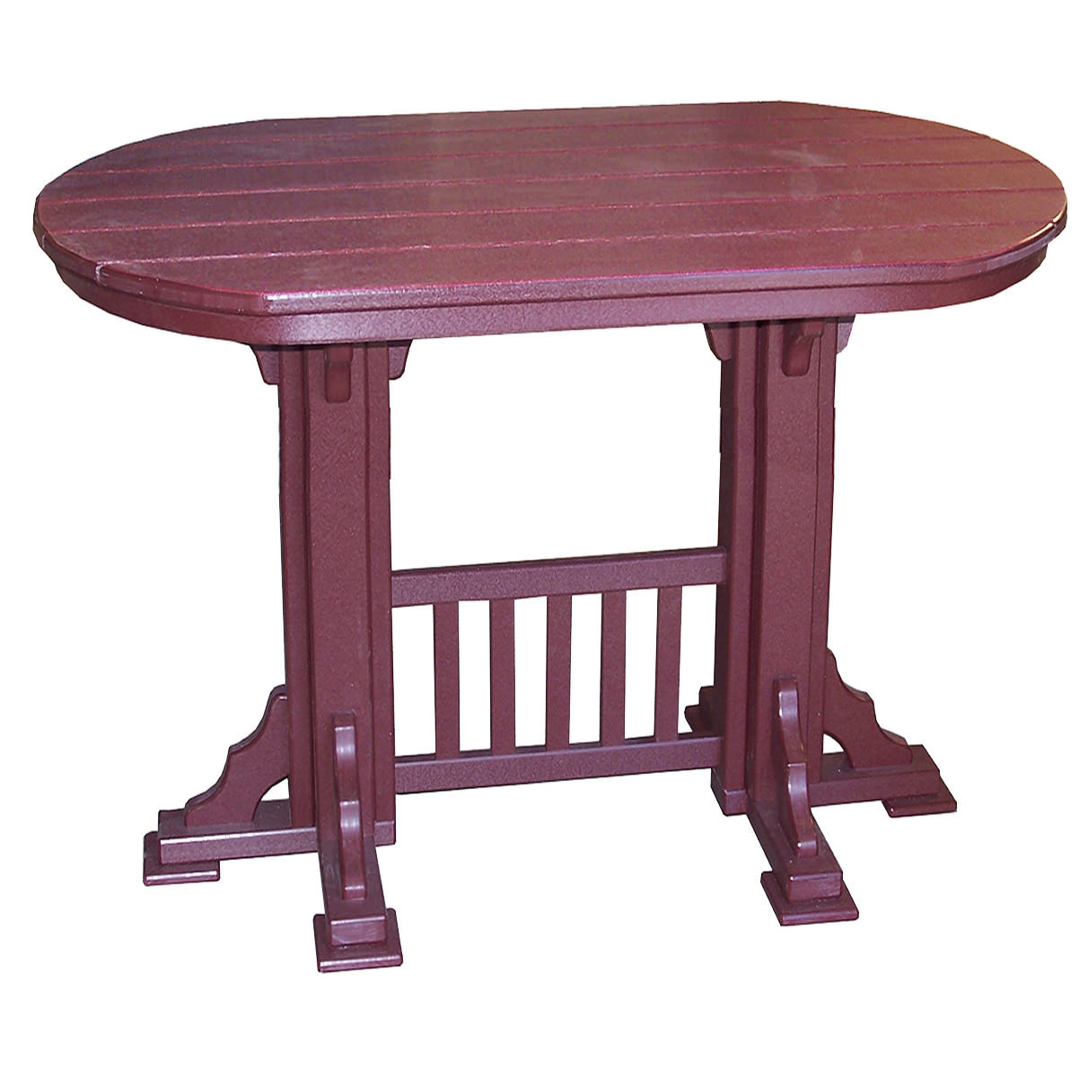 Amish Poly 7' Oval Mission Bar Table
