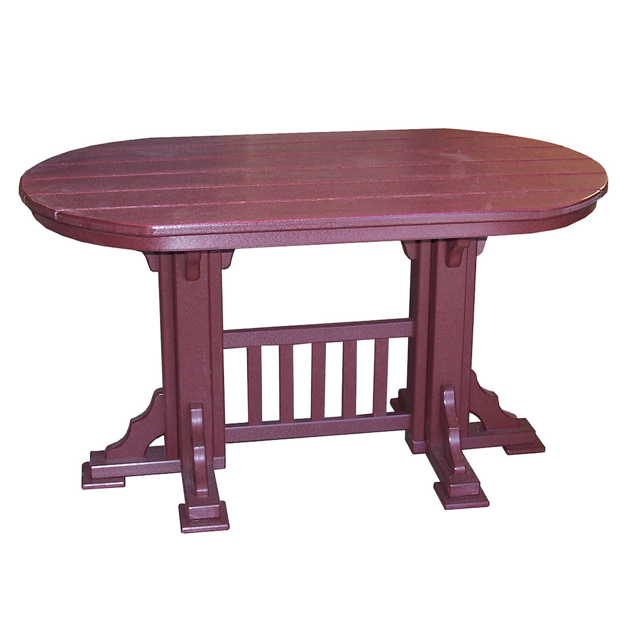 Amish Poly 6' Oval Mission Balcony Table