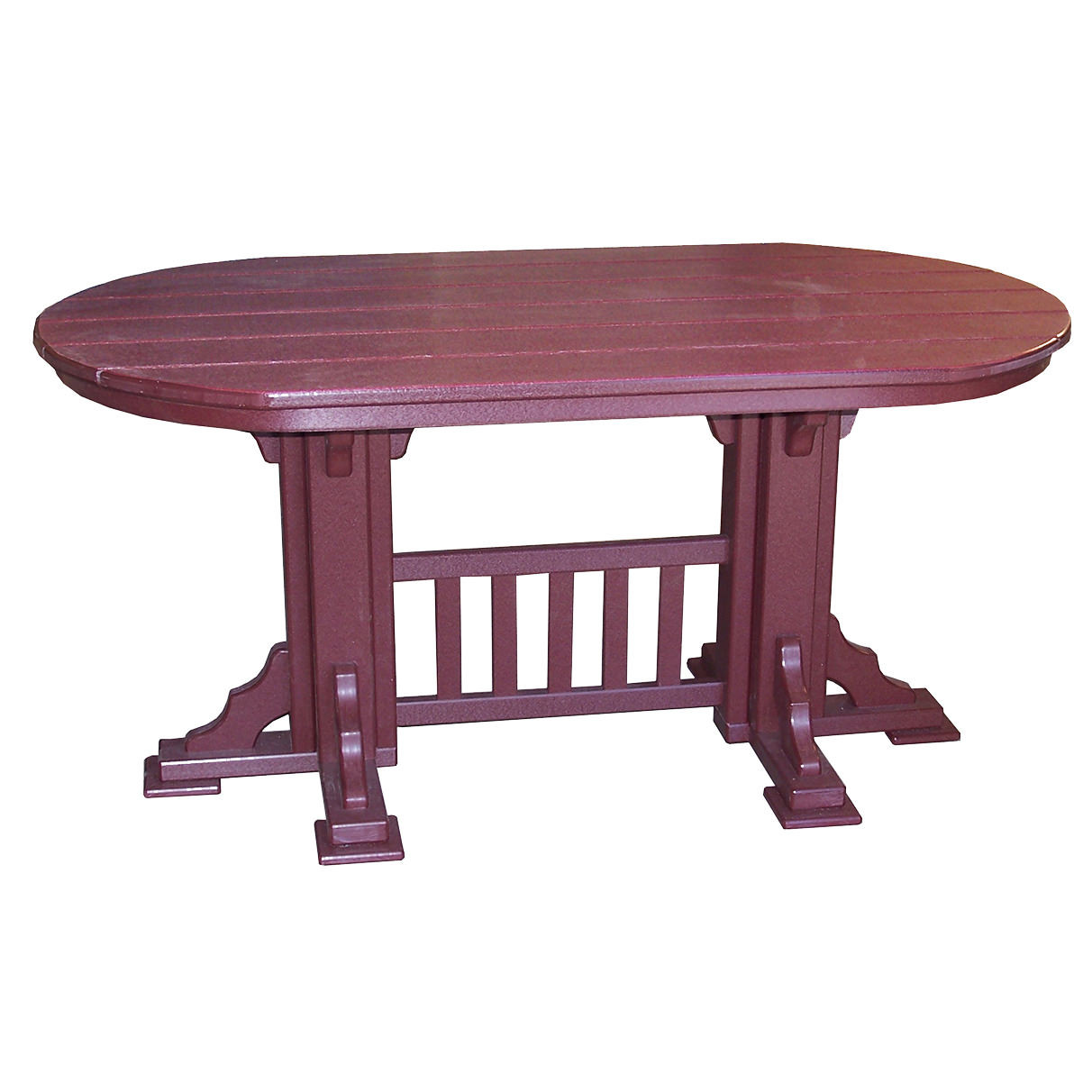 Amish Poly 7' Oval Mission Dining Table