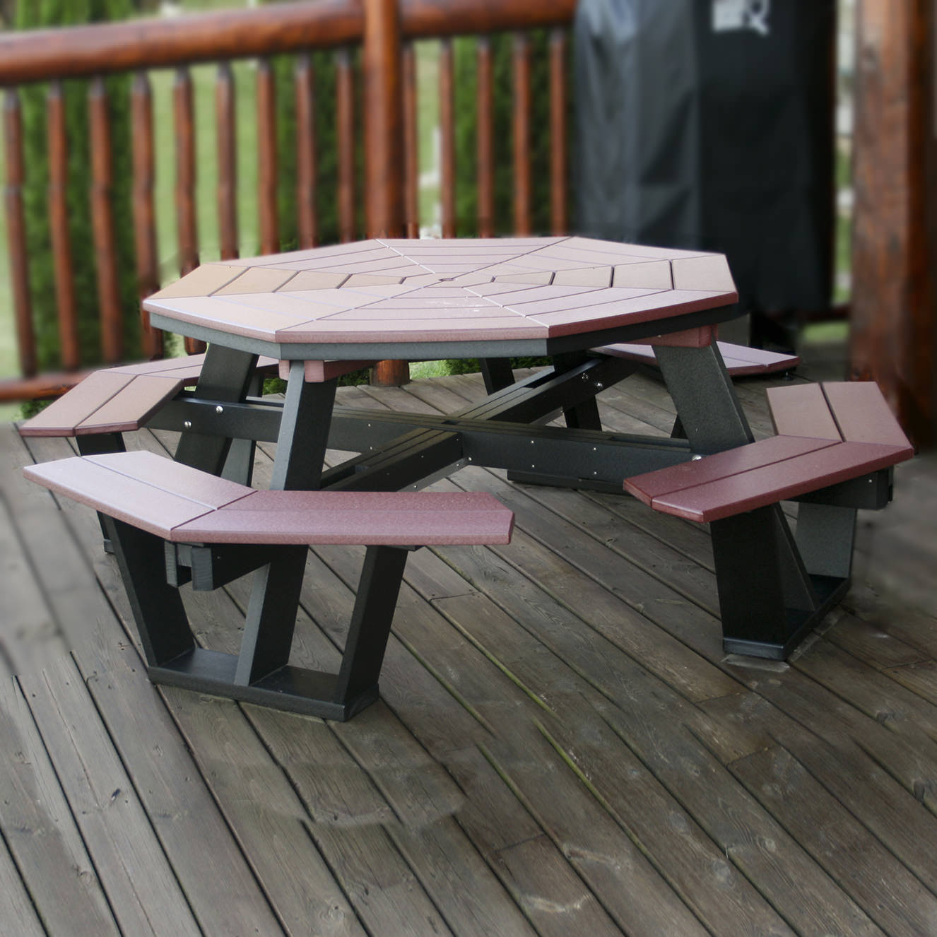 Amish Poly 5' Octagon Table