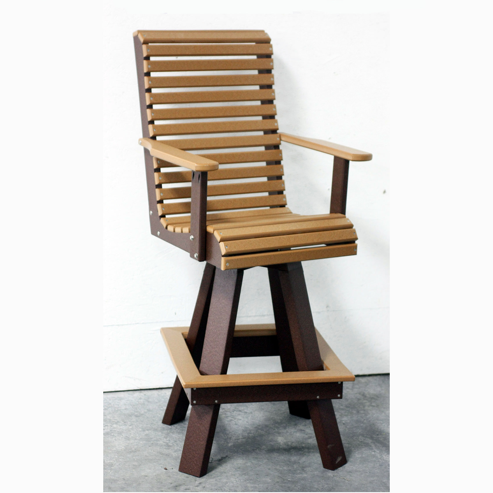 Amish Poly  Rollback Swivel Dining Chair