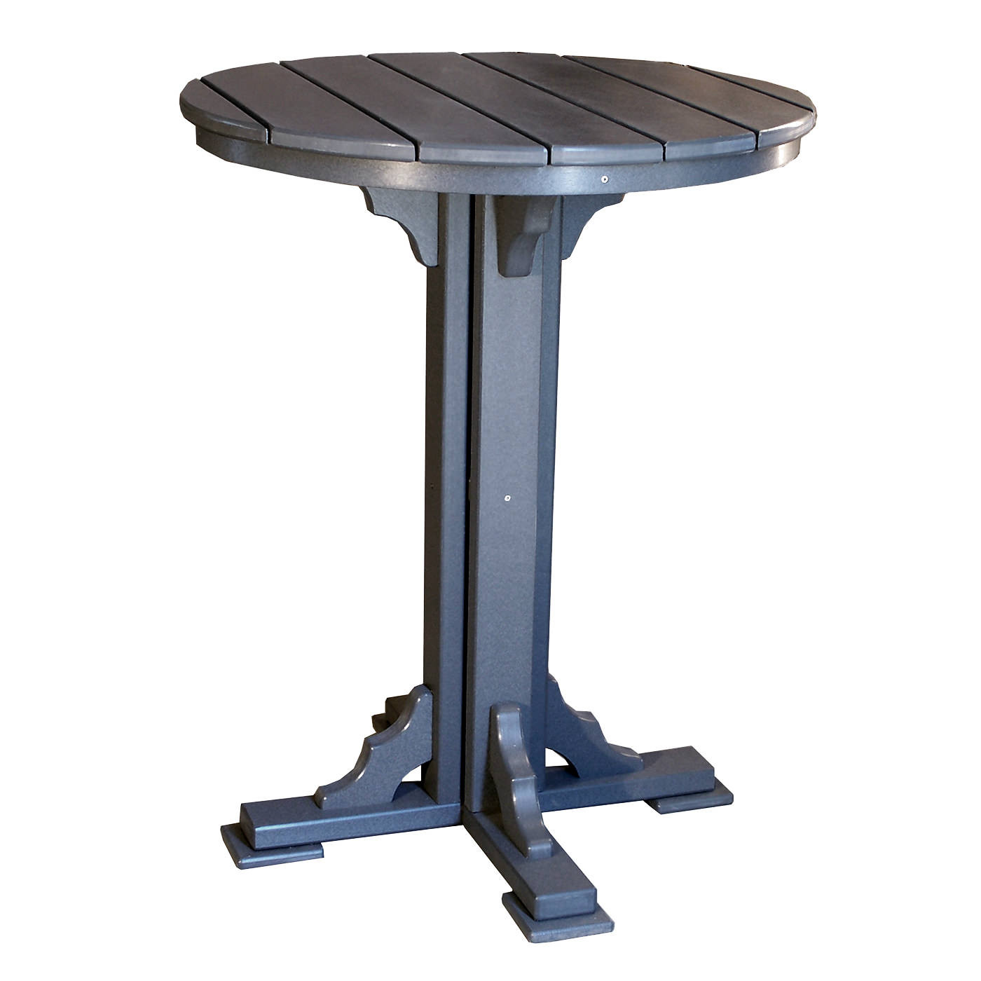 Amish Poly 34in Round Bar Table
