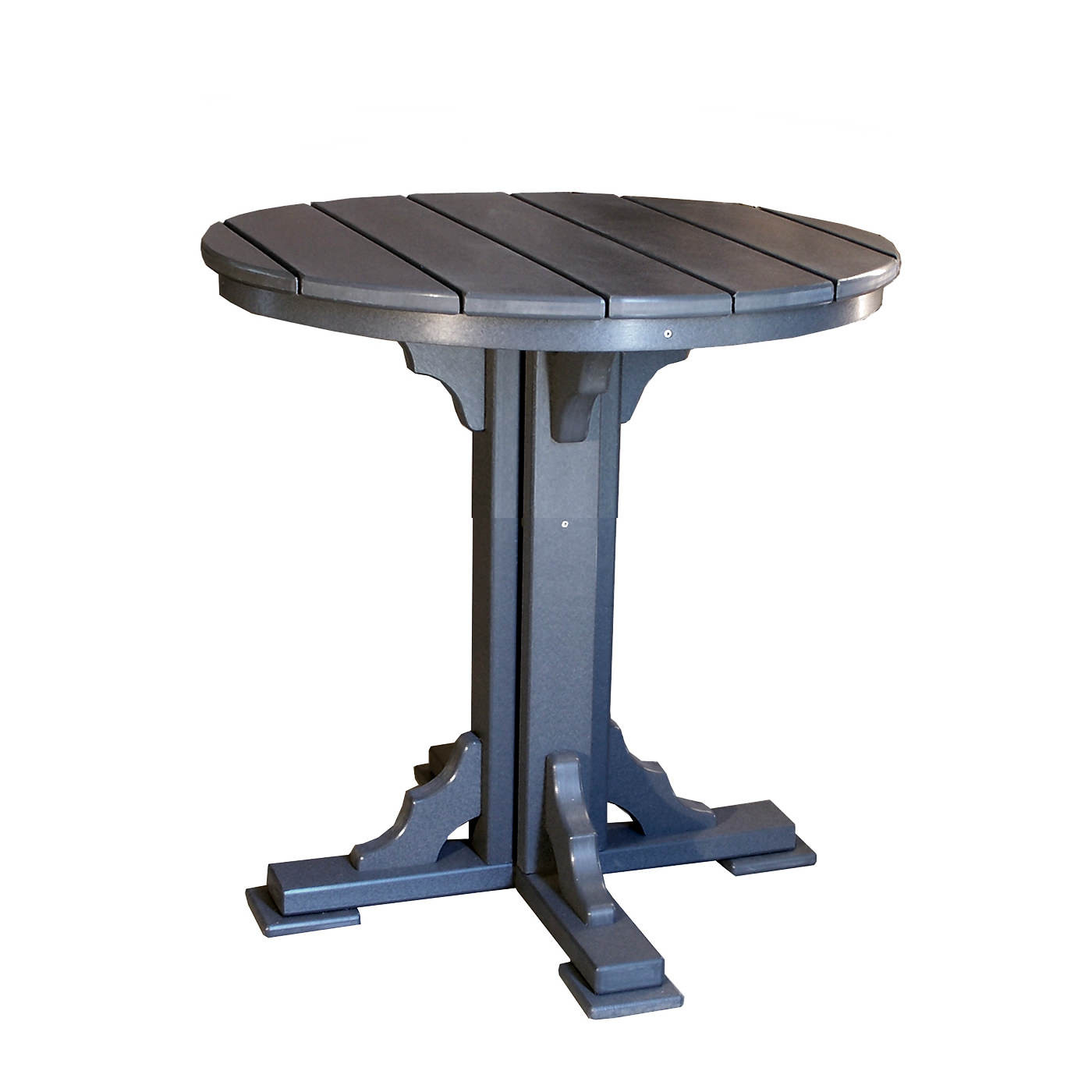 Amish Poly 34in Round Dining Table