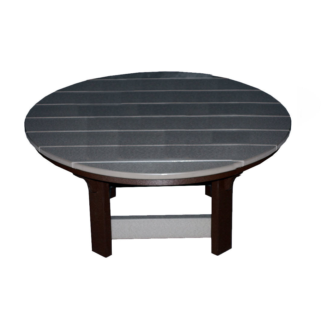 Amish Poly 42in Round Coffee Table Country Creek Poly Furniture Collections