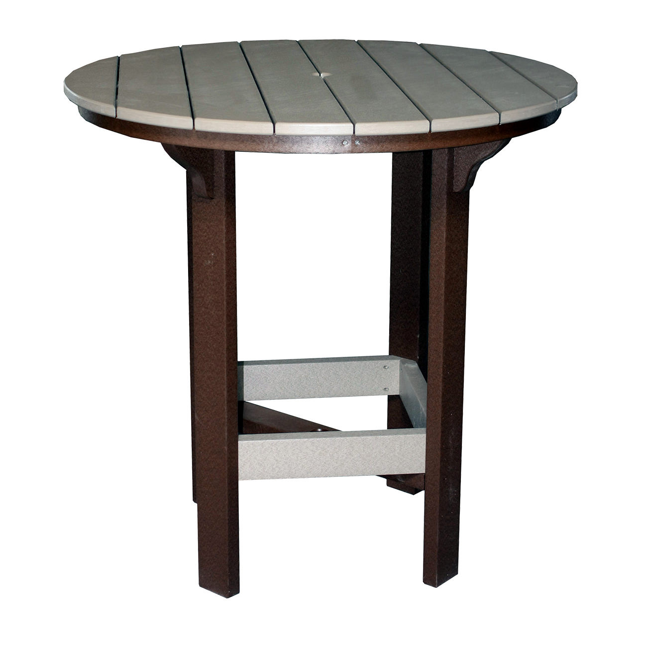 Amish Poly 42in Round Balcony Table