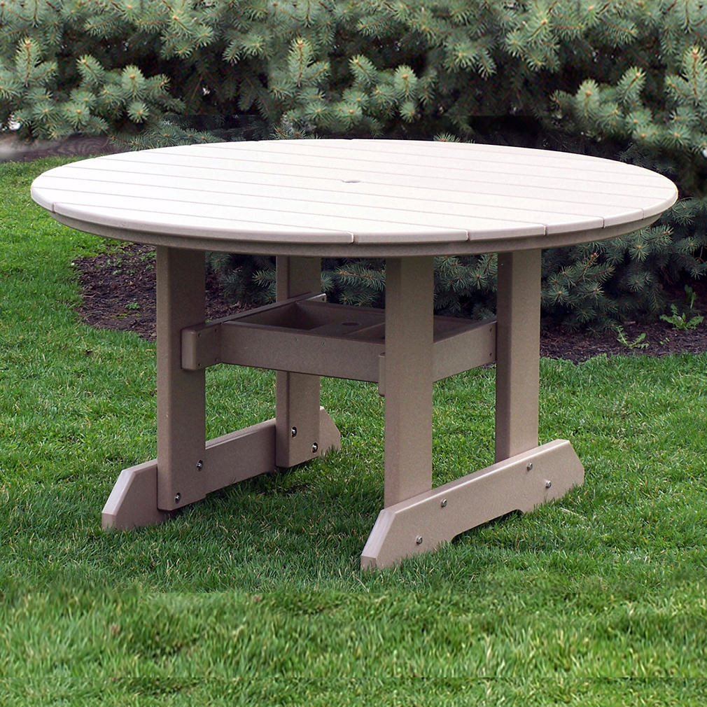 Amish Poly 54in Round Dining Table