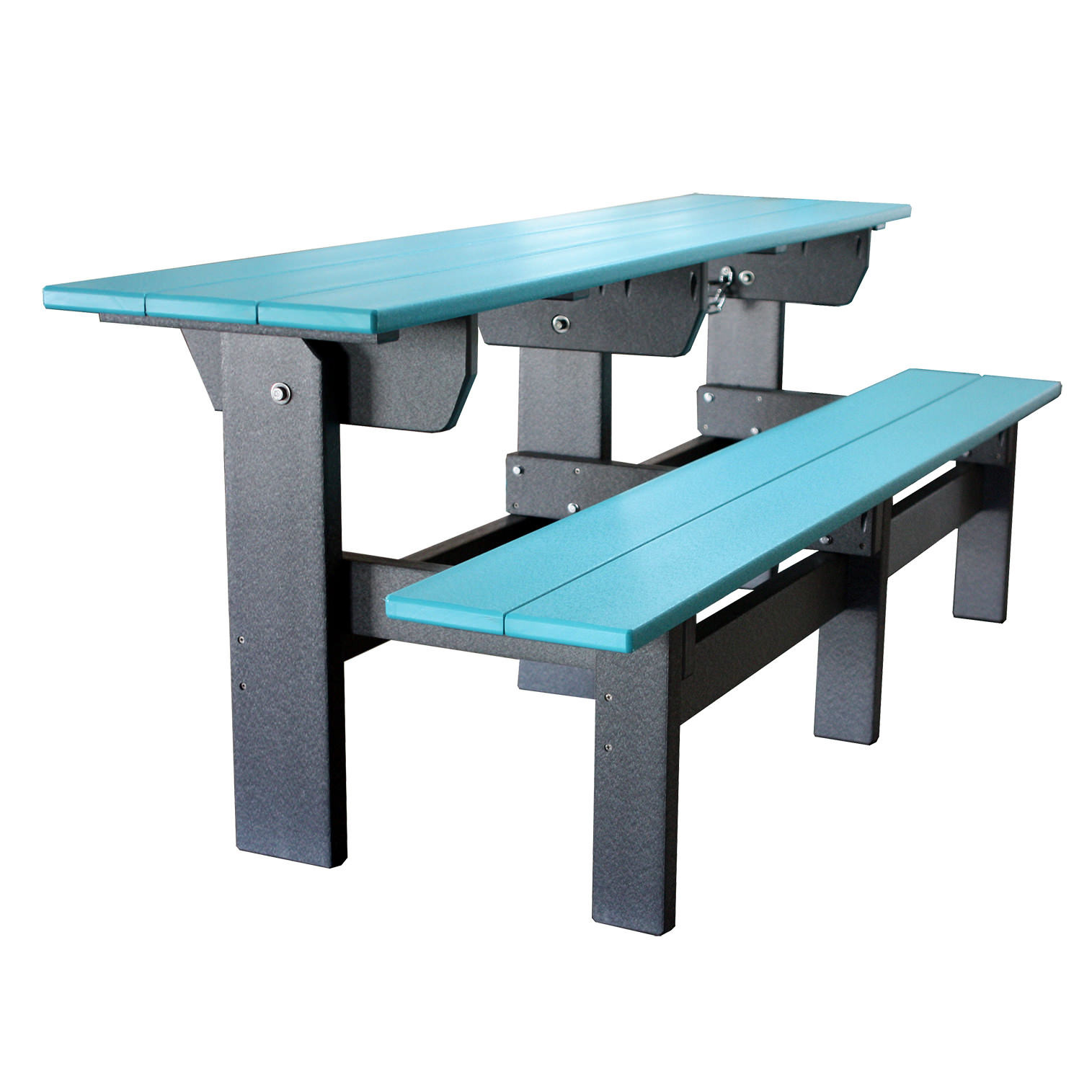 Amish Poly 6' Single Park Bench/Table Set