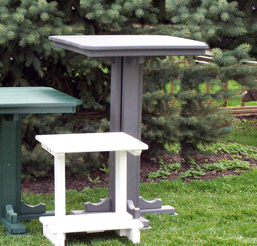 Amish Poly 28in Square Balcony Table