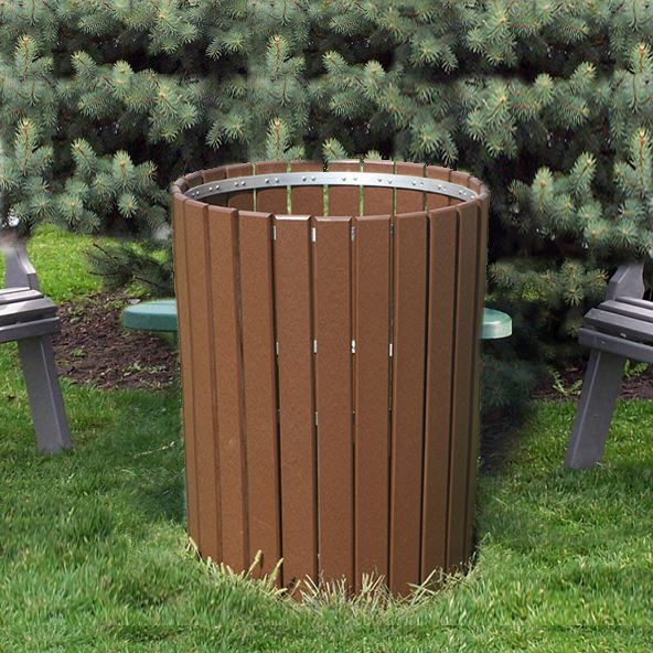 Amish Poly 32inH. Trash Bin
