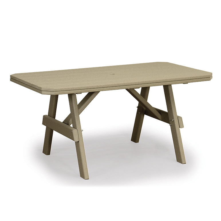 Amish Poly Wood 3 x 4 Garden Dining Table
