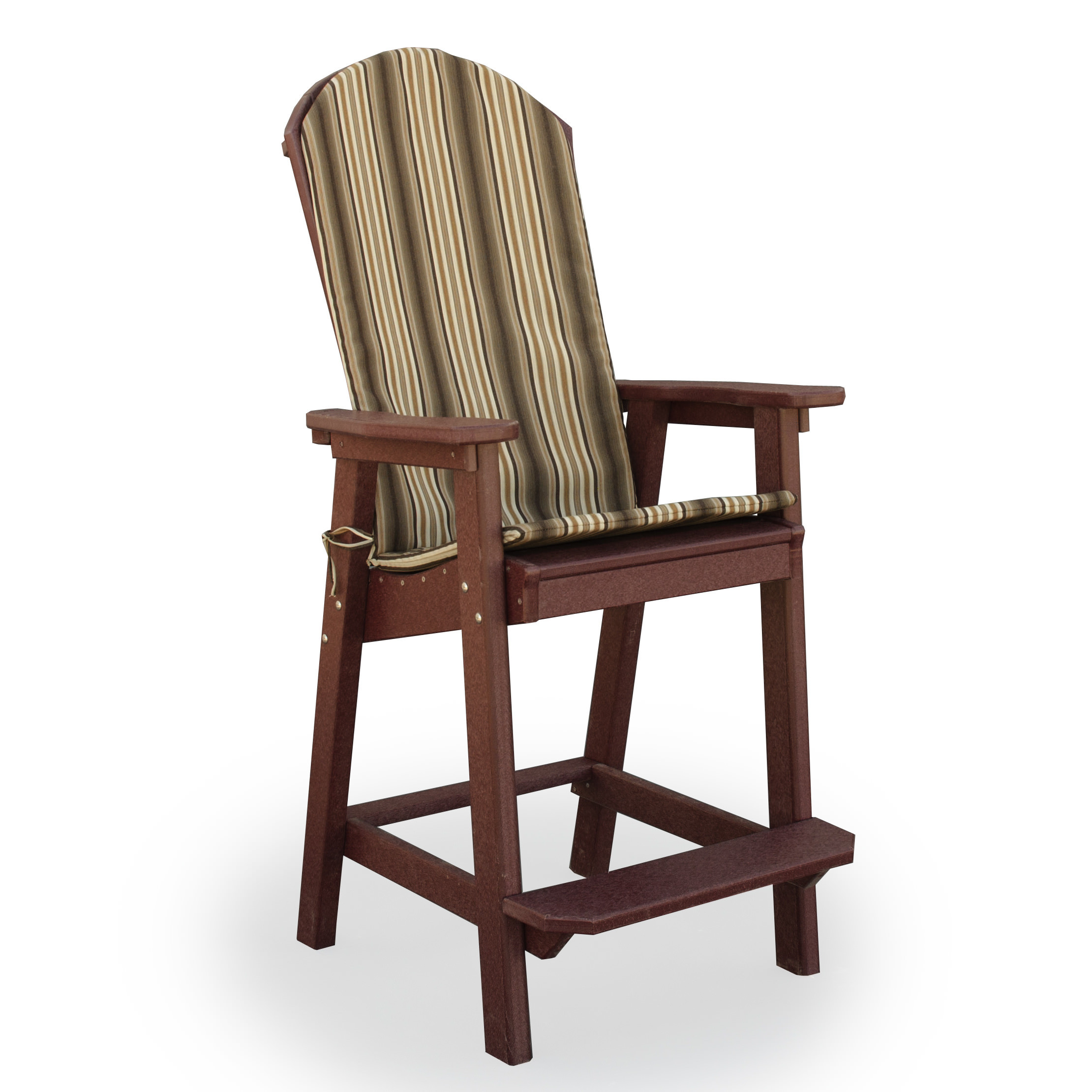Amish Poly Wood Seat Cushion for Great Bay Bar Chair