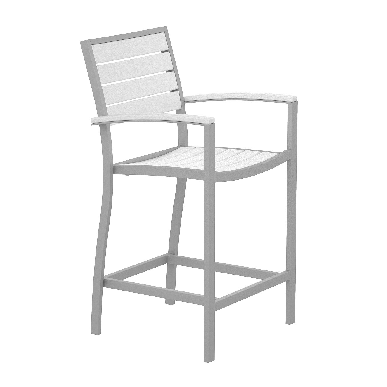 POLYWOOD® Euro Counter Arm Chair