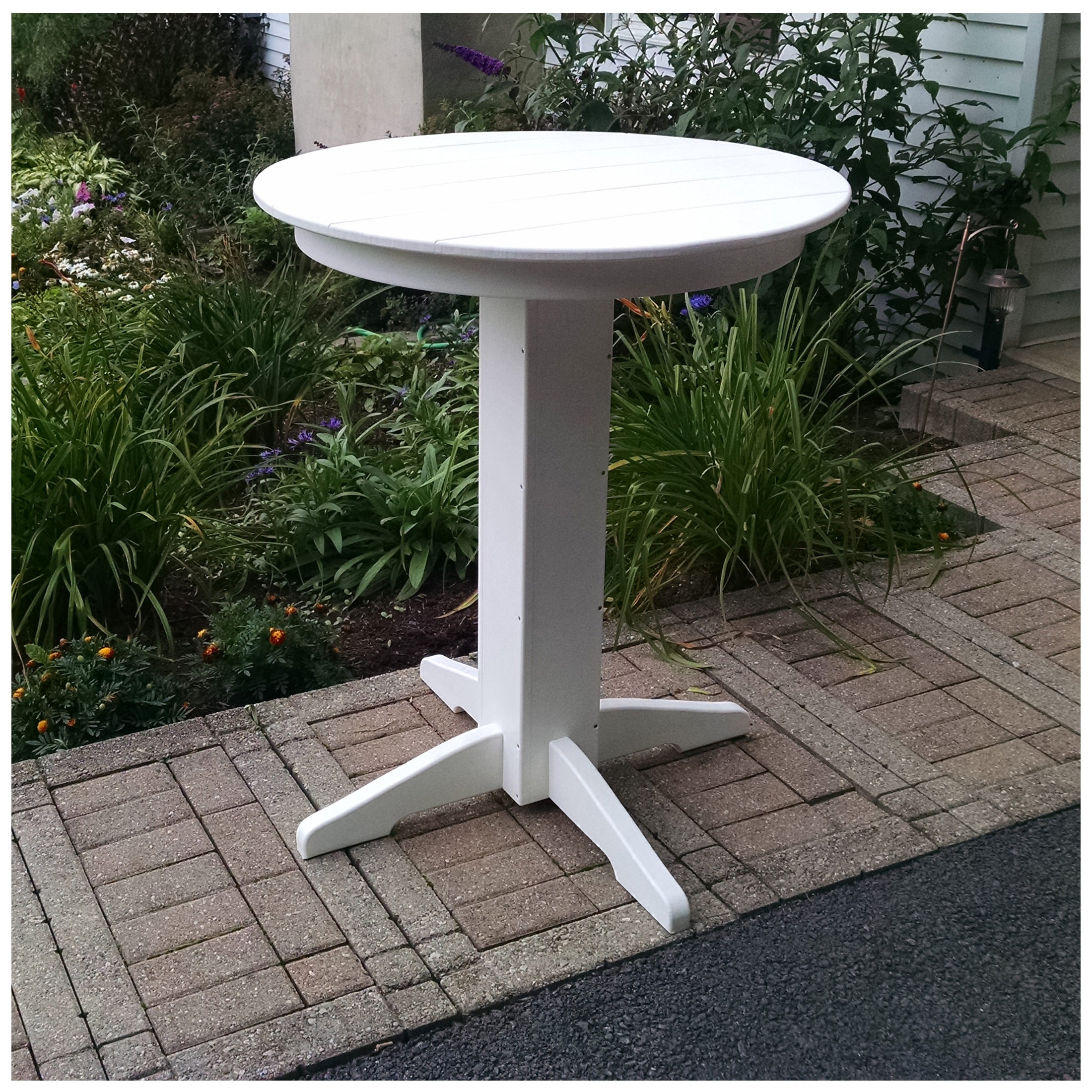 A&L Furniture 33 in Round Bar Table