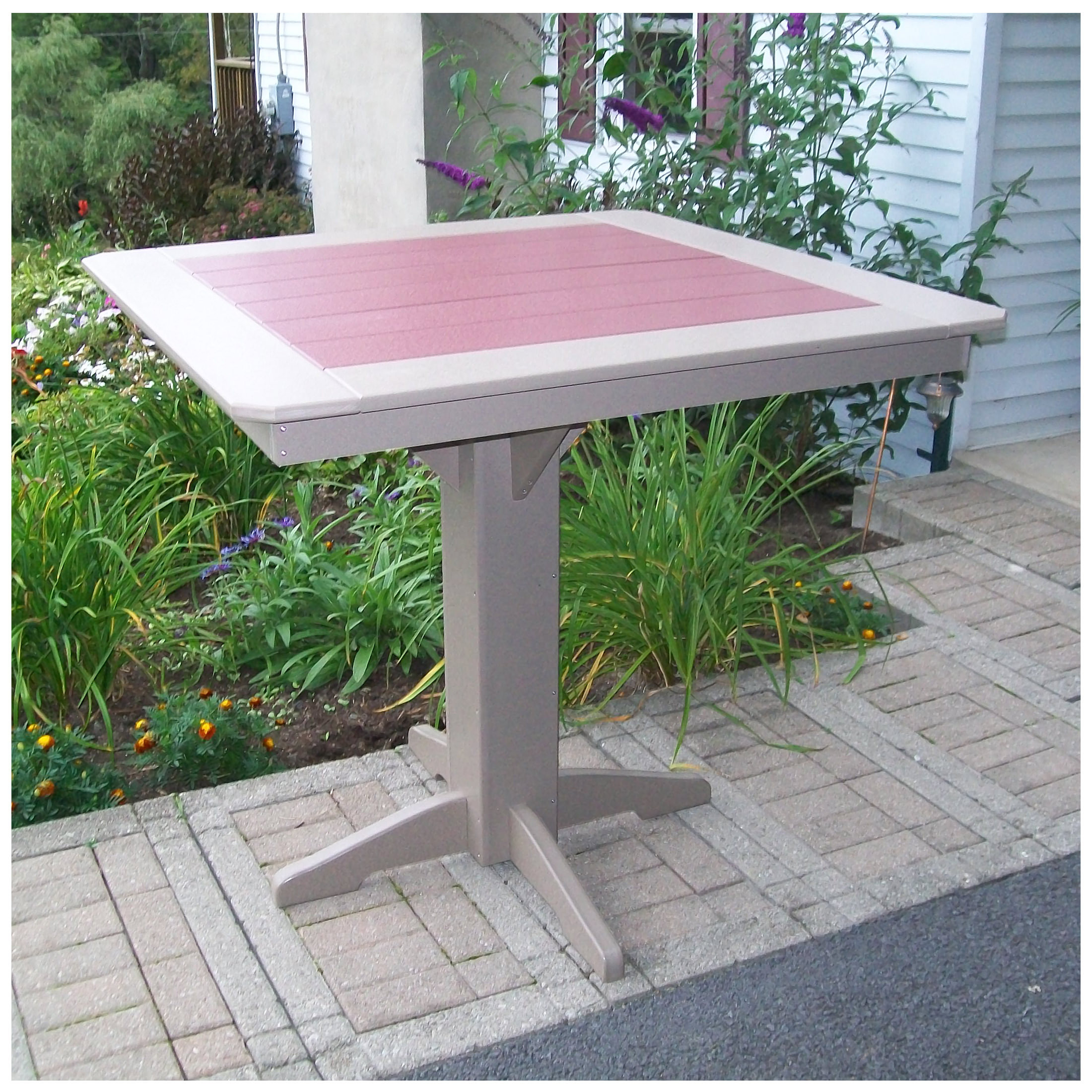 A&L Furniture 44 in Square Bar Table