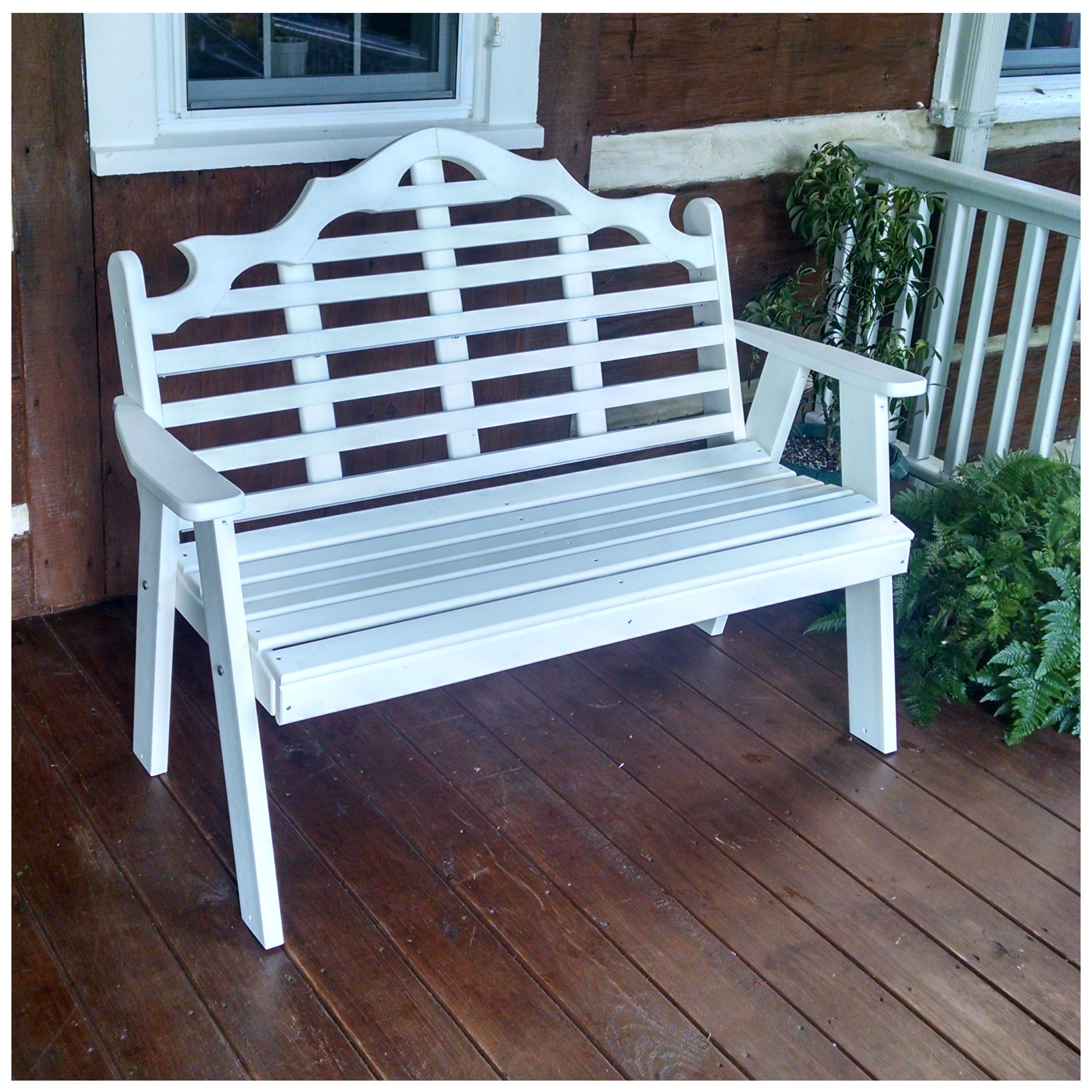 A&L Furniture 4 ft Poly Marlboro Garden Bench