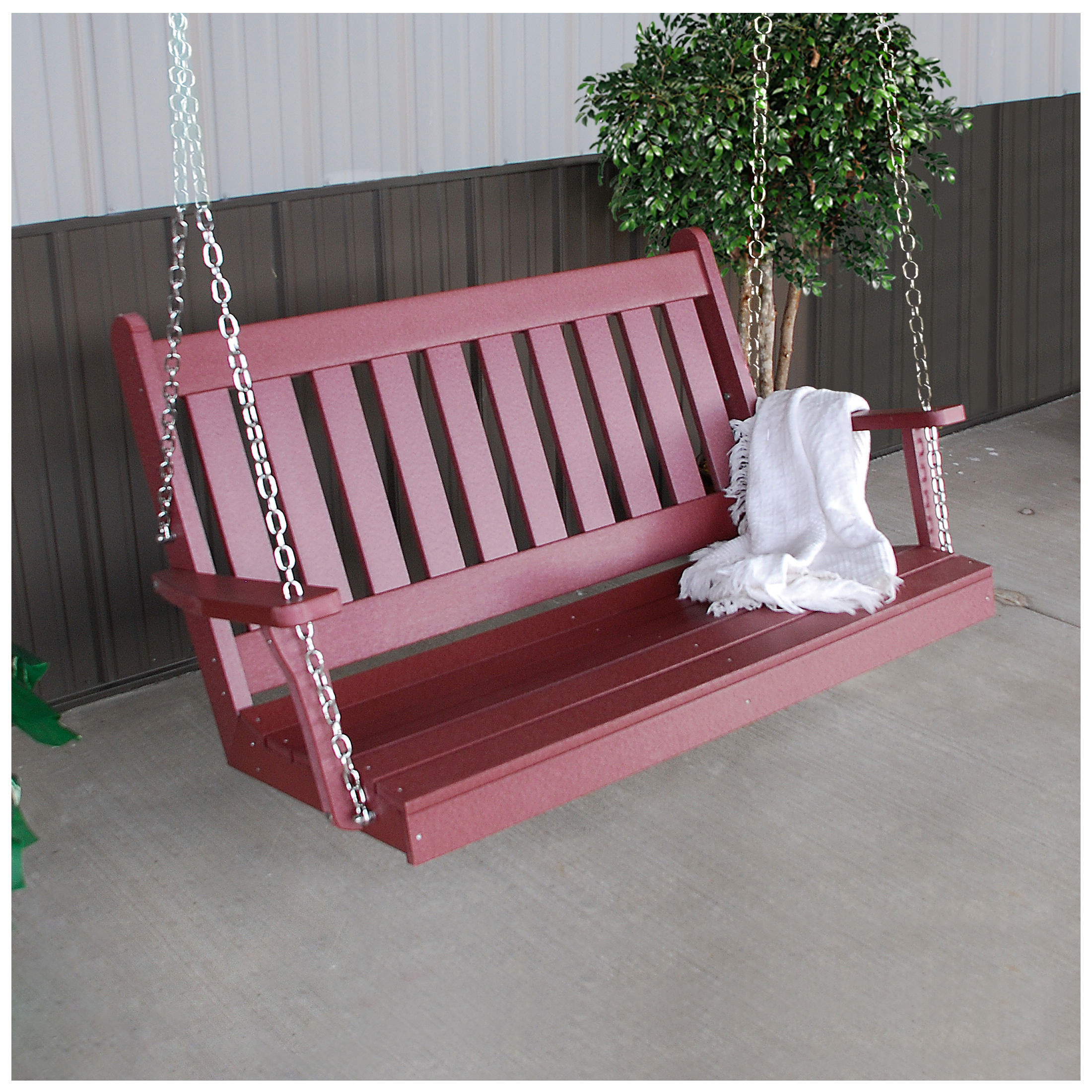 A&L Furniture 4 ft Poly Traditional English Swing (Chains Included)