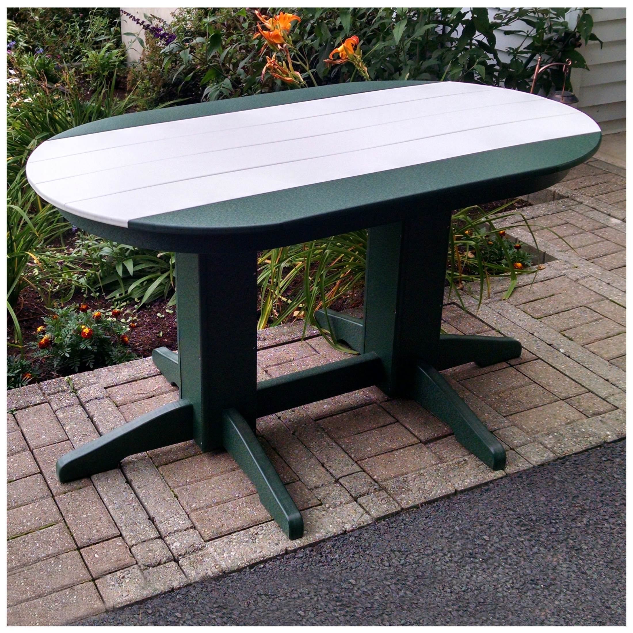 A&L Furniture 60 in x 33 in Oval Dining Table