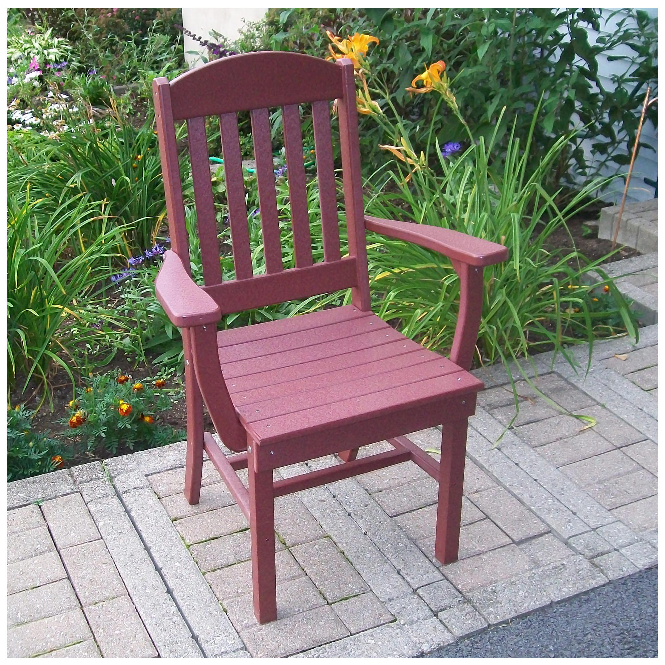 A&L Furniture Classic Dining Chair With Arms