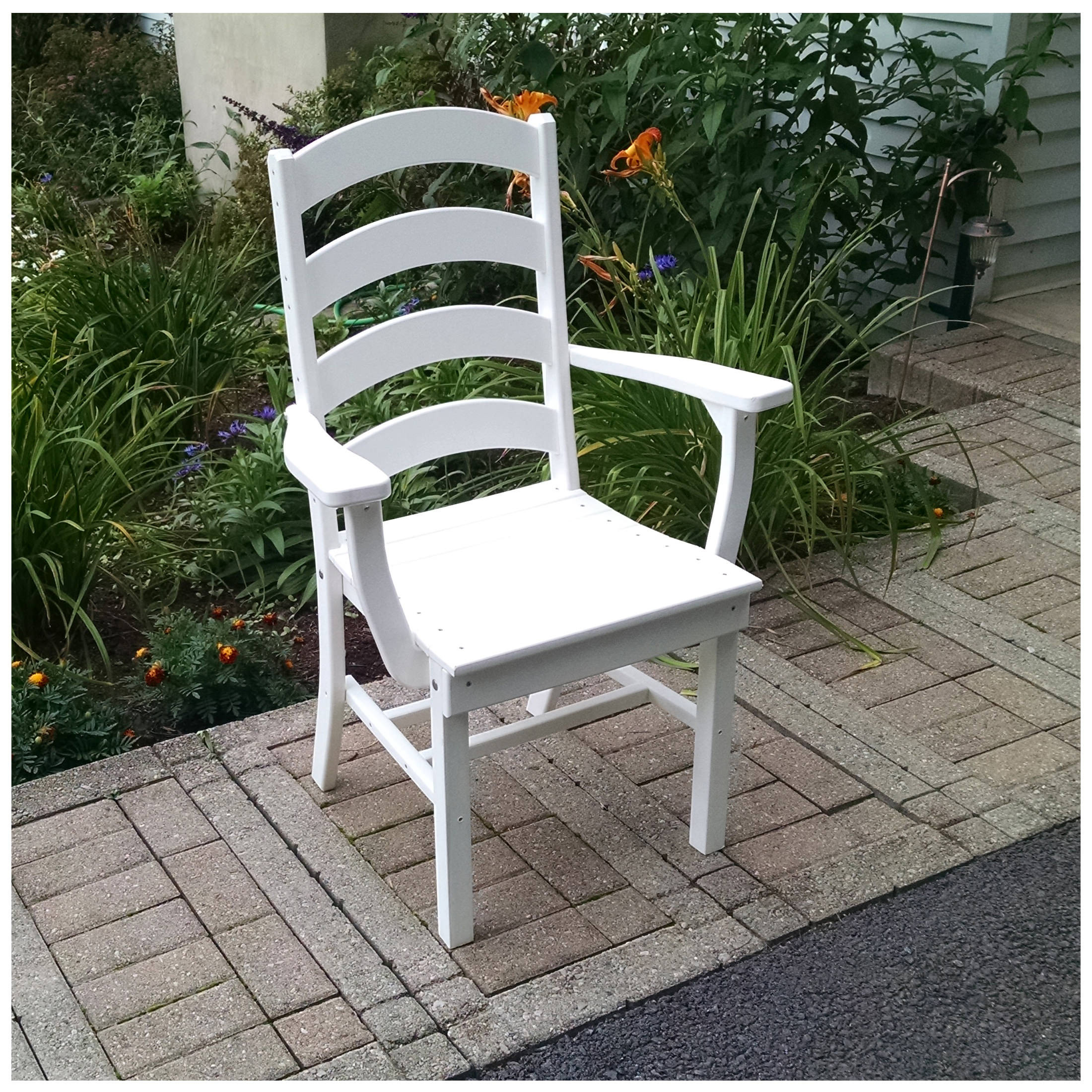 A&L Furniture Ladderback Dining Chair With Arms