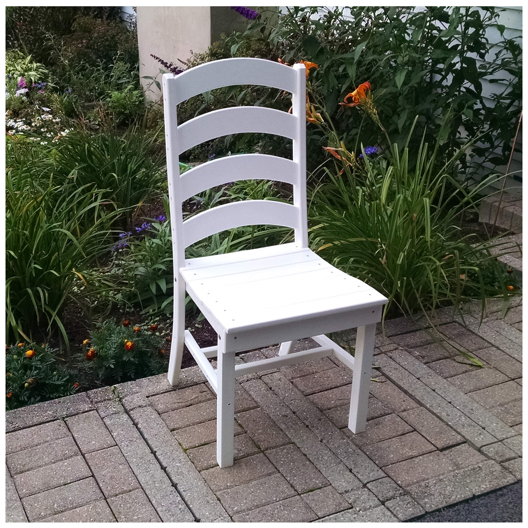A&L Furniture Ladderback Dining Chair Without Arms