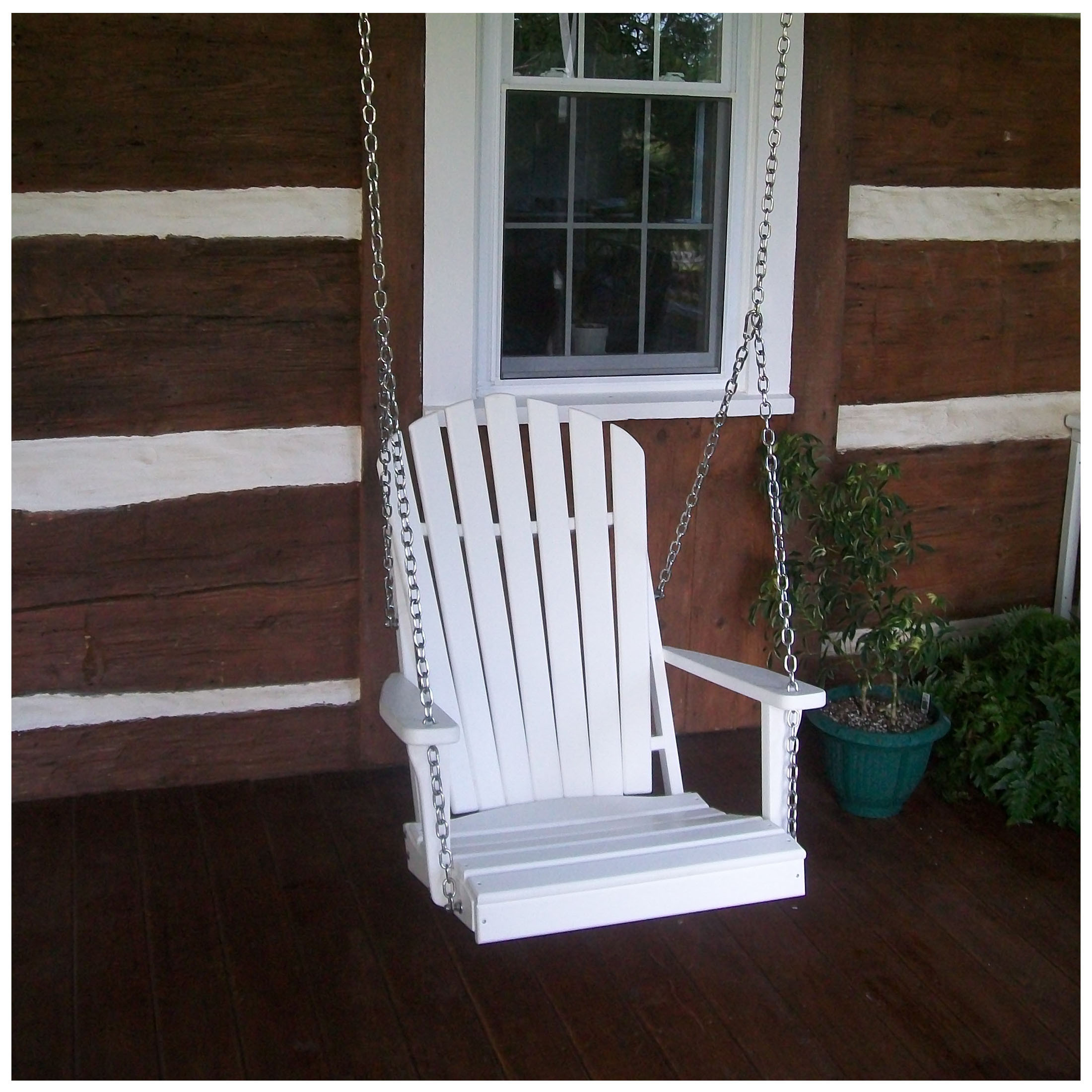 A&L Furniture Poly Adirondack Chair Swing