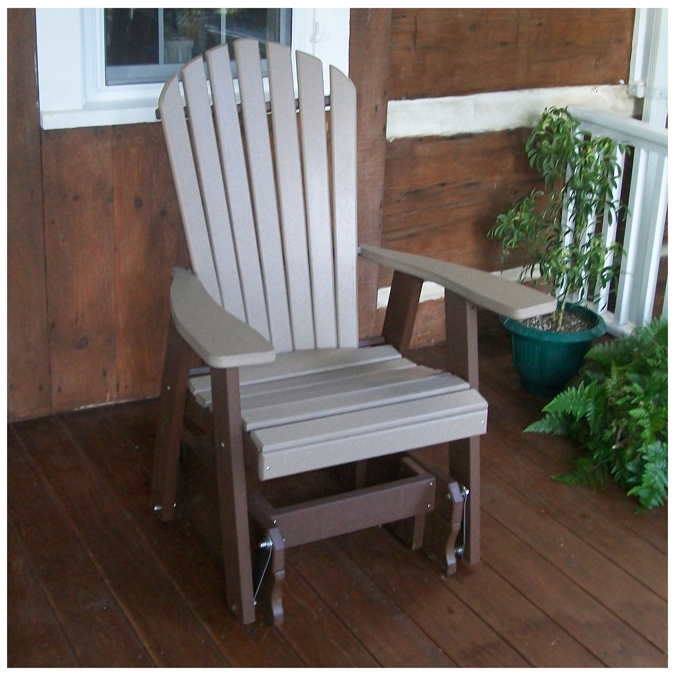 A Amp L Furniture Poly Adirondack Gliding Chair A Amp L