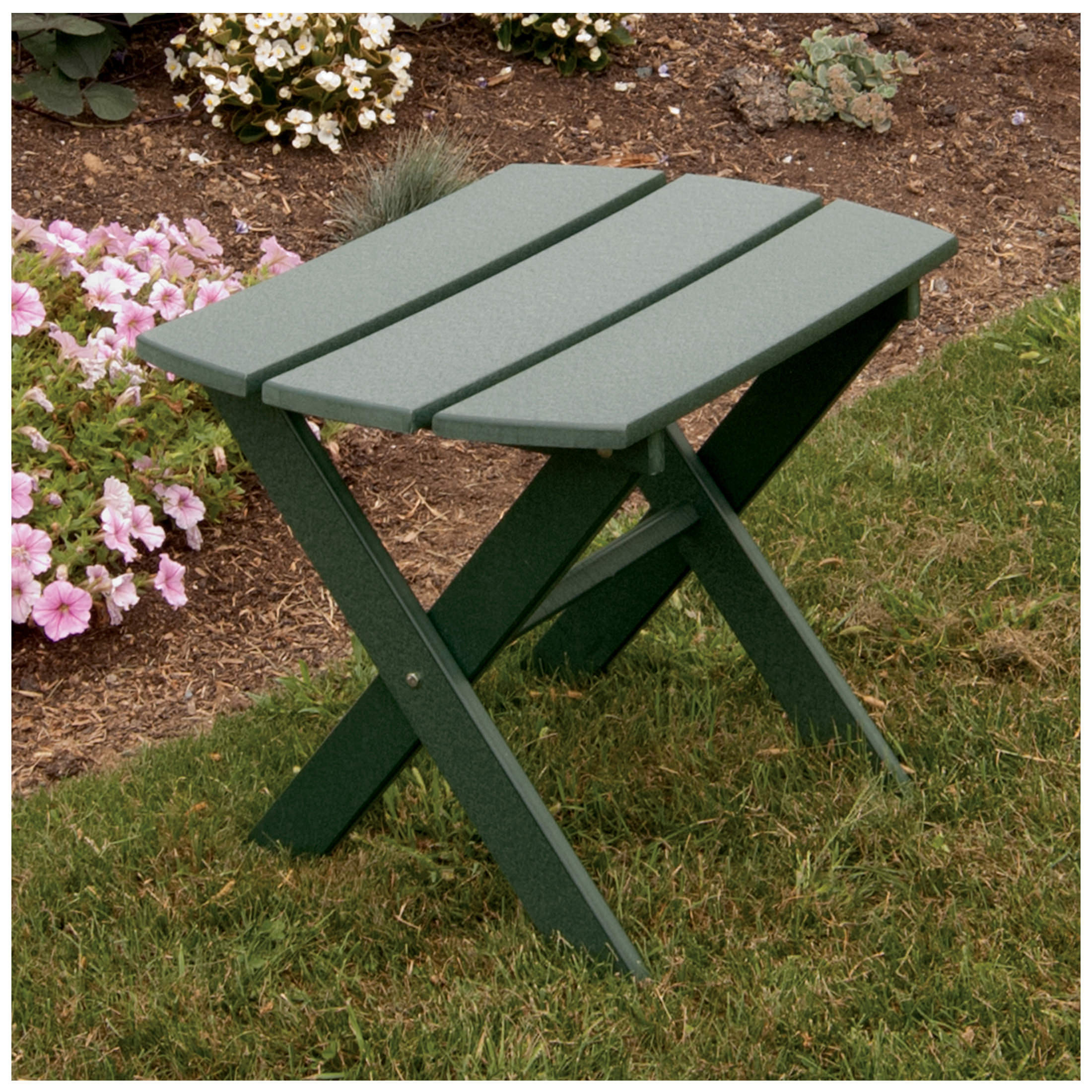 A&L Furniture Poly Folding End Table