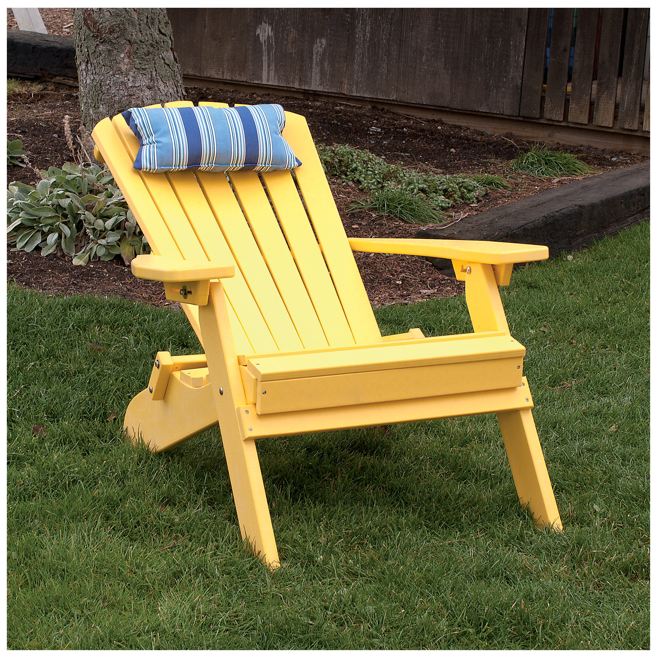 A Amp L Furniture Poly Folding Reclining Adirondack Chair