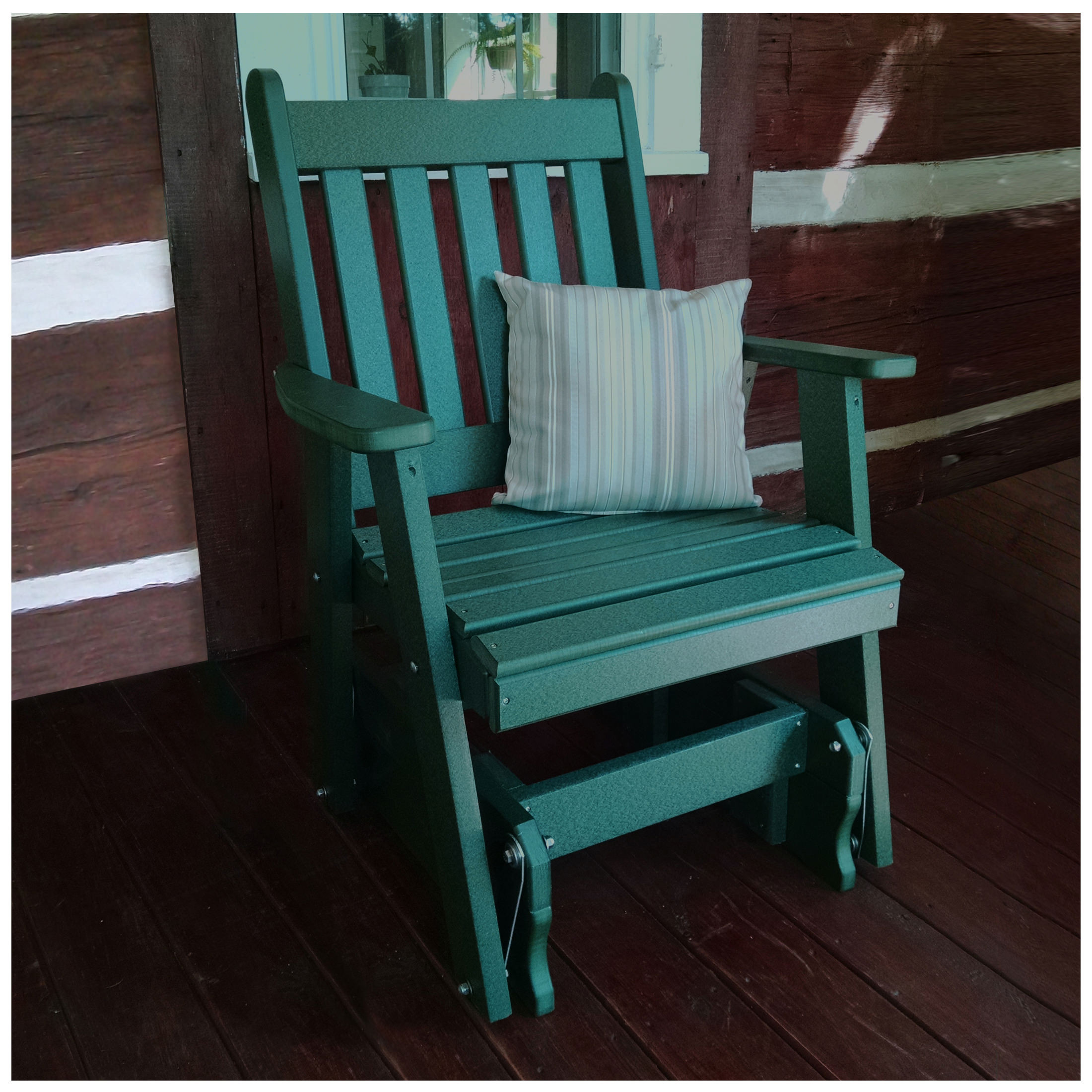 A&L Furniture Poly Traditional English Gliding Chair