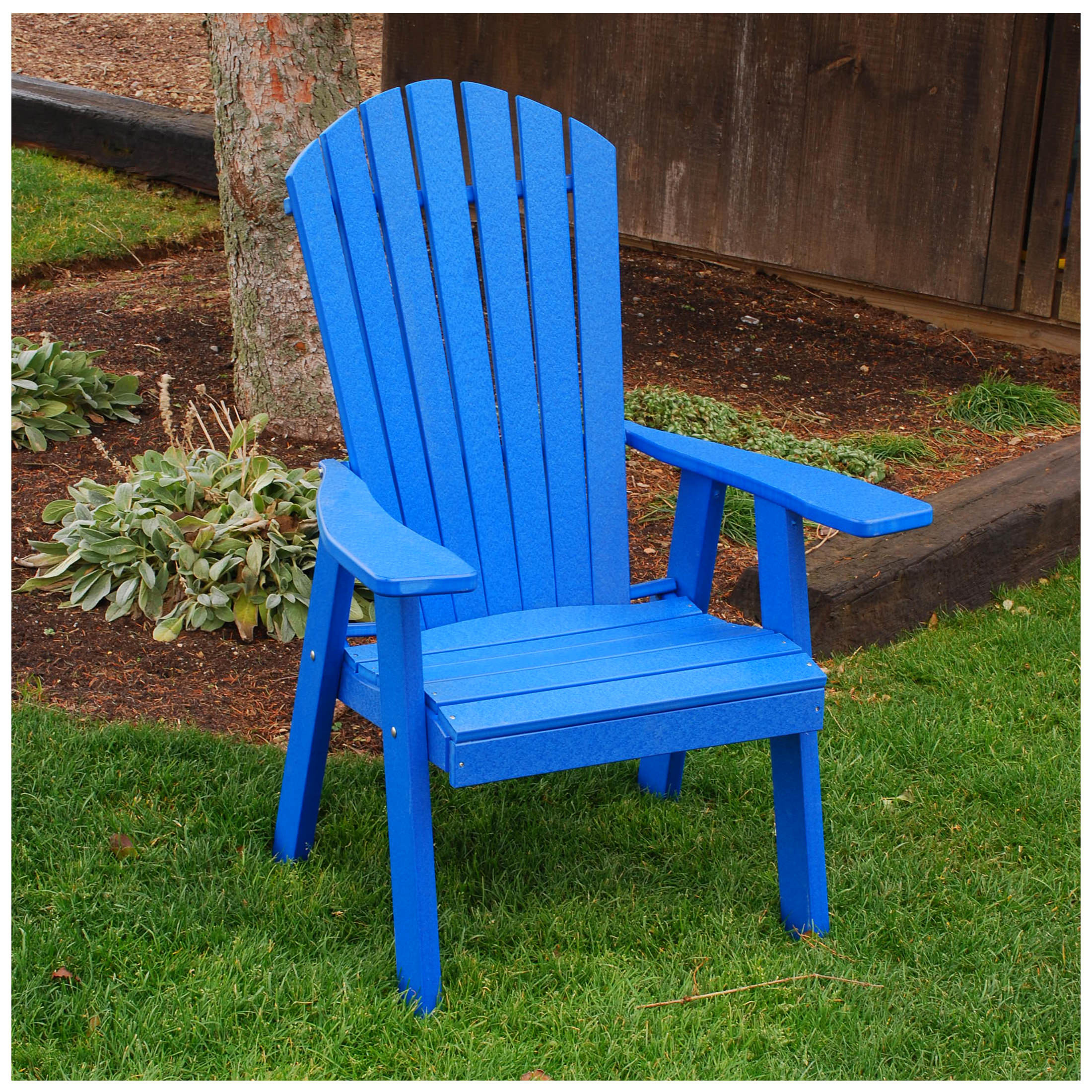 A&L Furniture Poly Upright Adirondack Chair