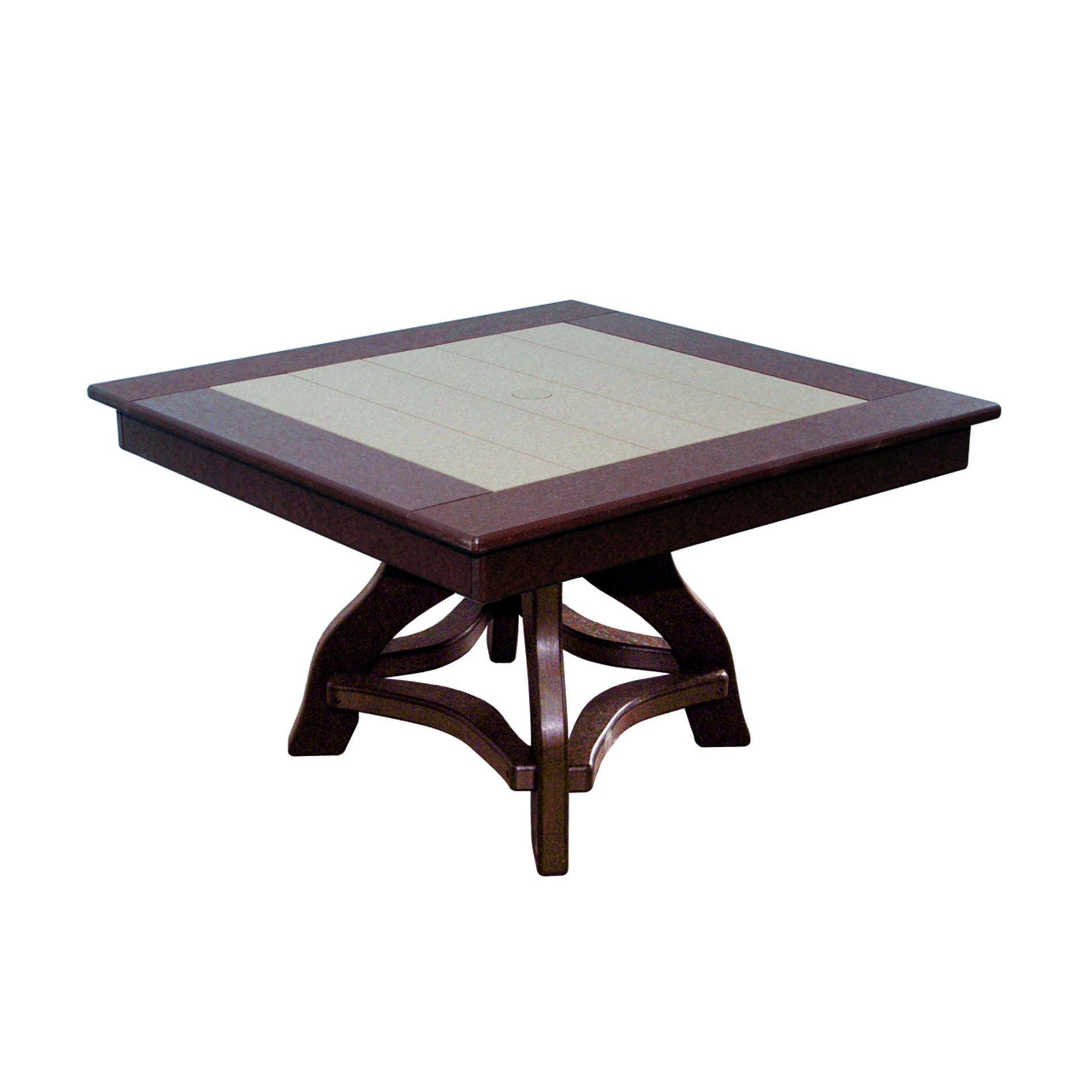 Amish Poly 32in Square Chat Table