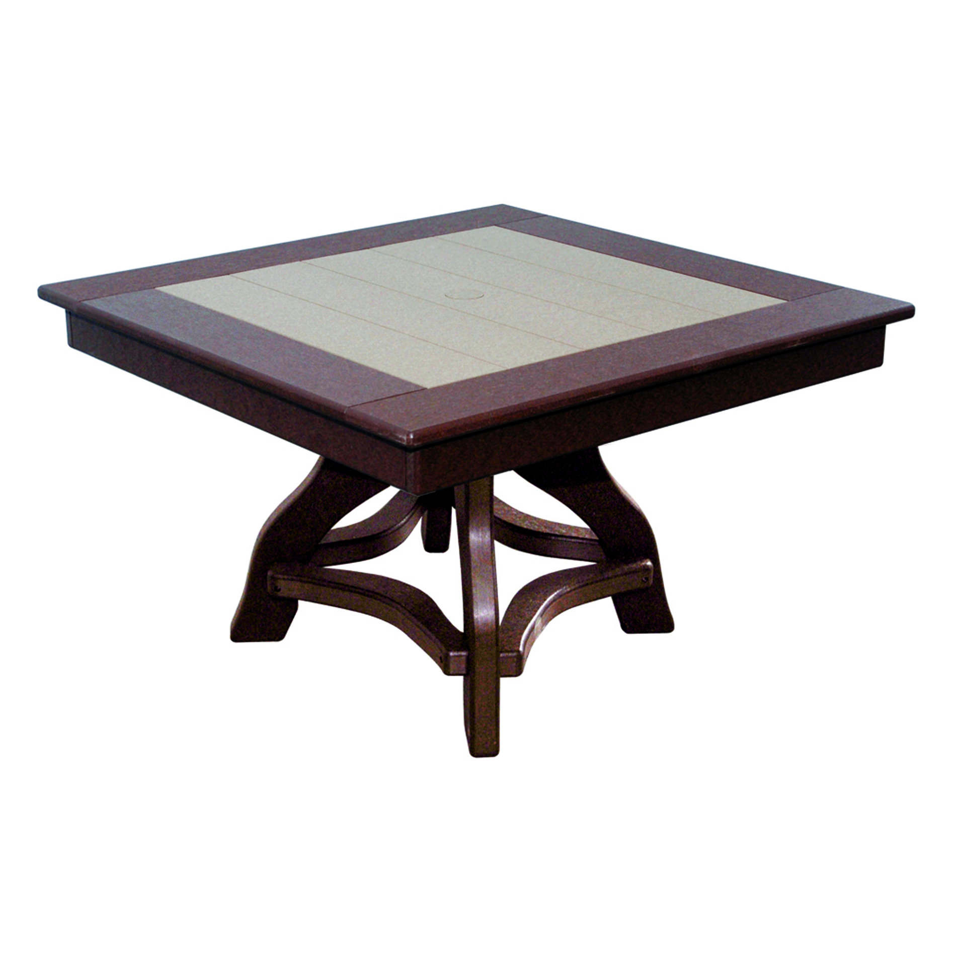 Amish Poly 36in Square Chat Table