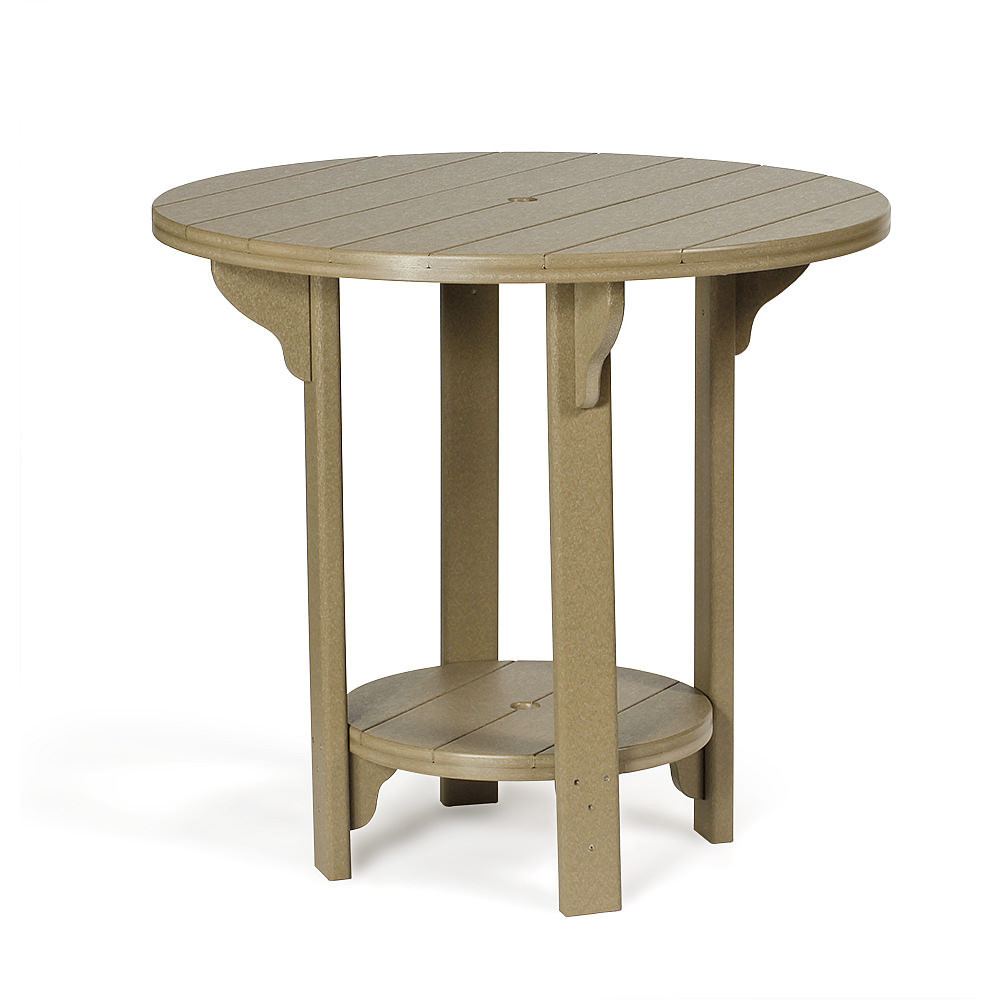 Amish Poly Round 42 in Bar Table