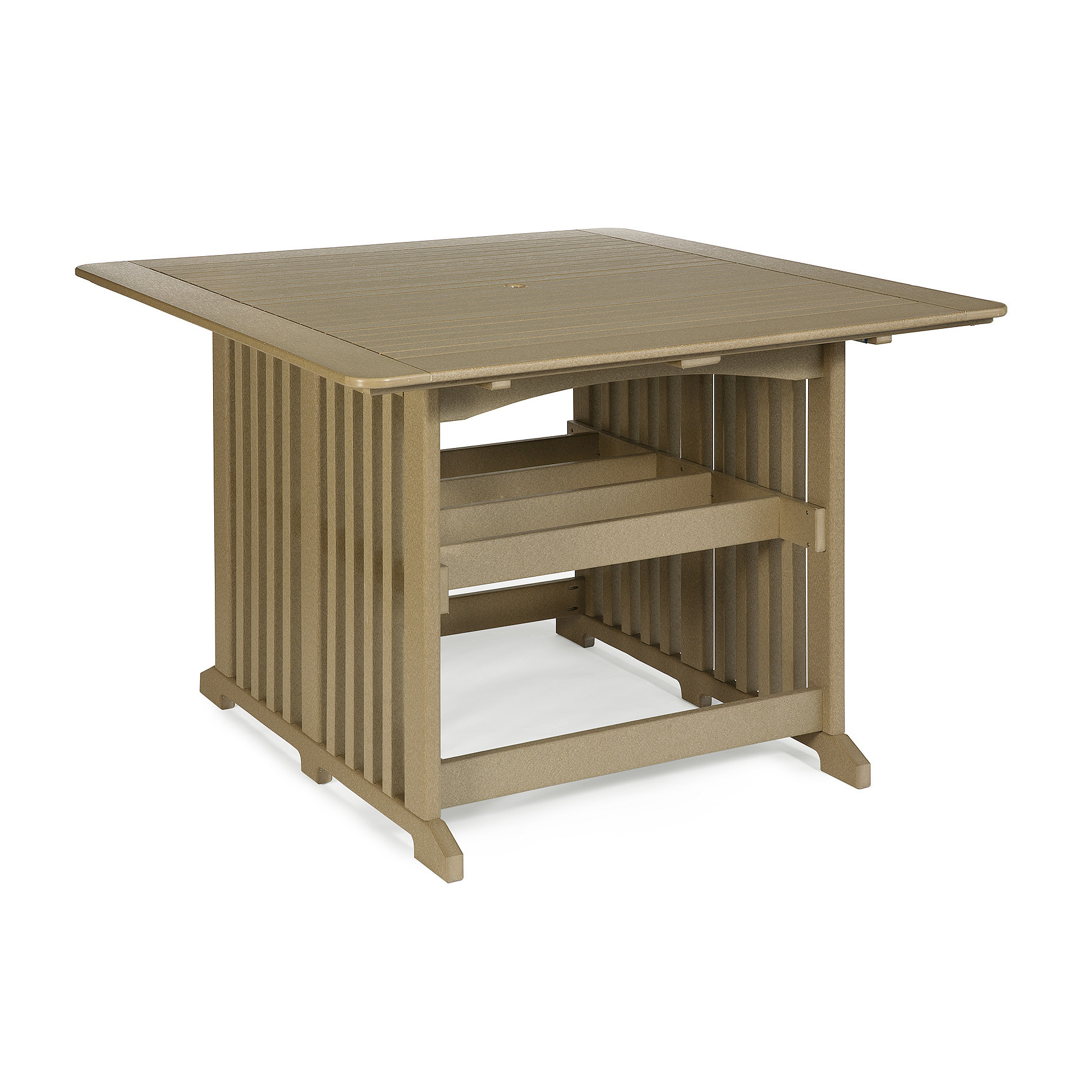 Amish Poly 60 in Square Bar Table