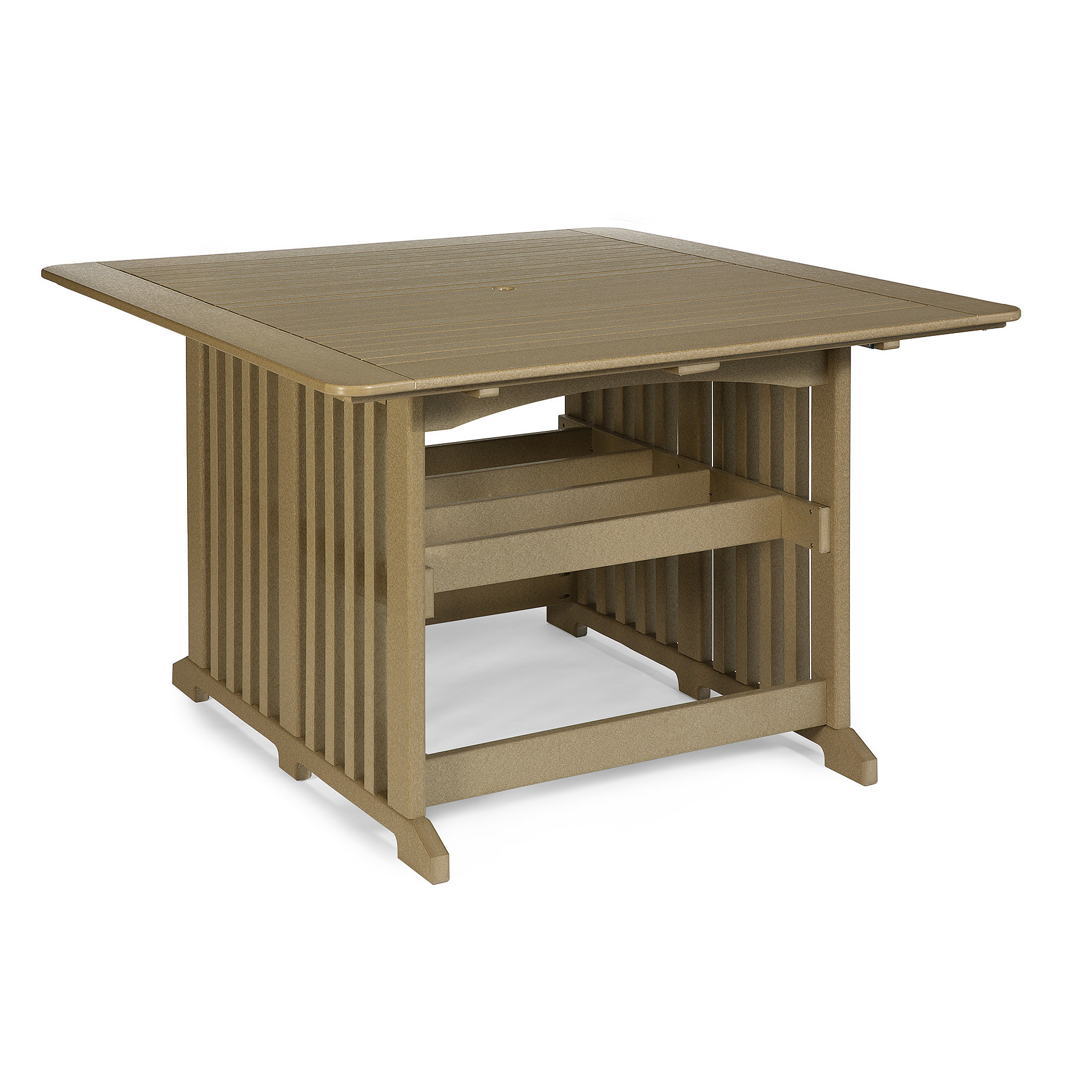 Amish Poly 60 in Square Counter Table
