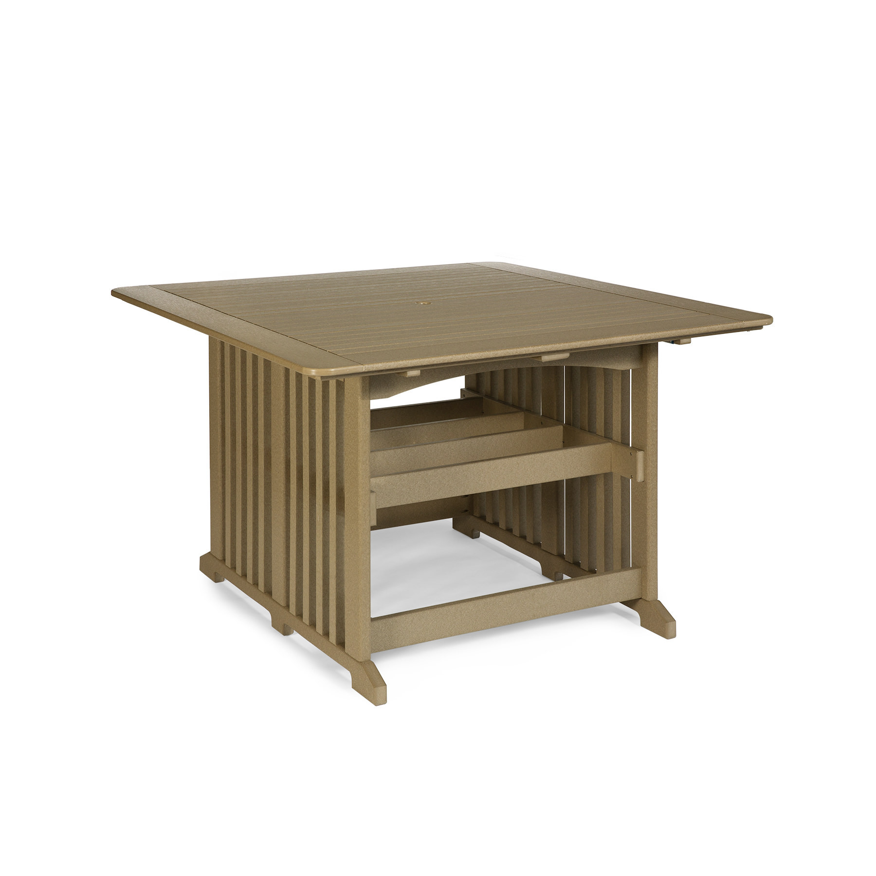 Amish Poly 72 in Square Counter Table