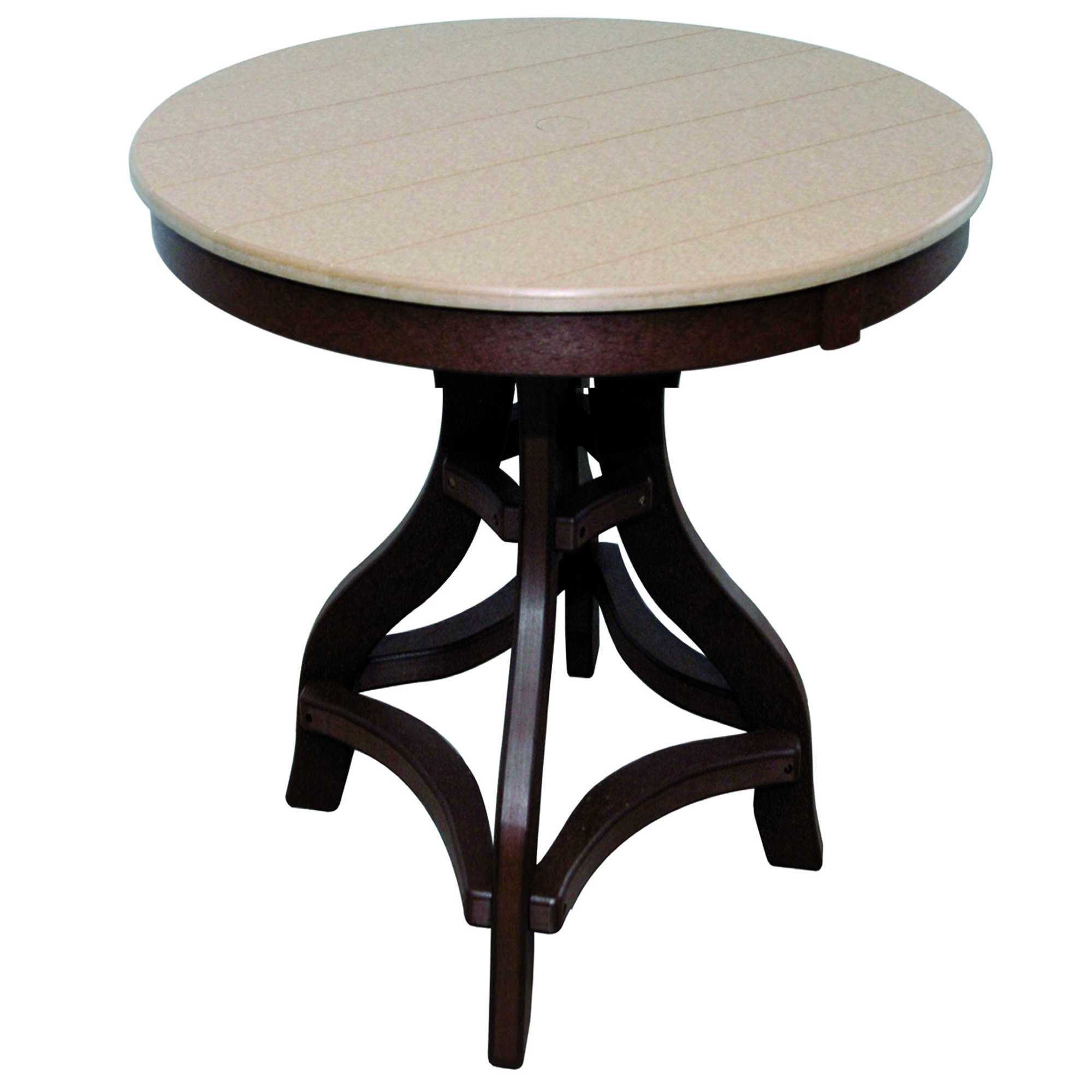 Amish Poly Bar Height 32in Round Table