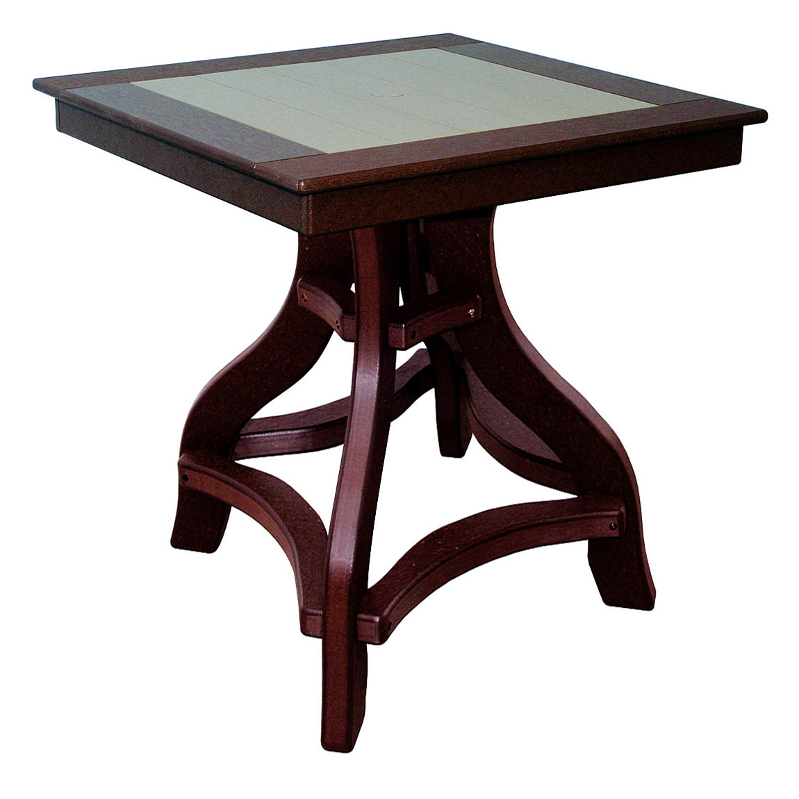 Amish Poly Bar Height 32in Square Table