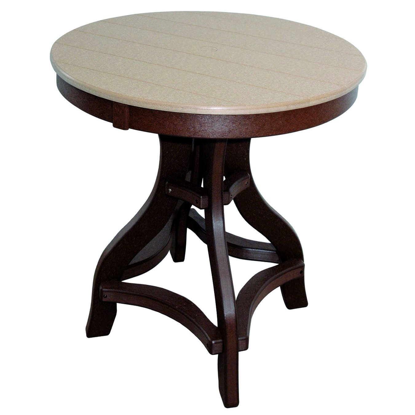 Amish Poly Bar Height 36in Round Table