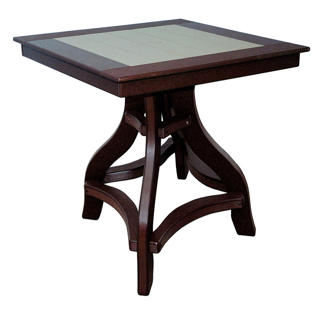 Amish Poly Bar Height 36in Square Table