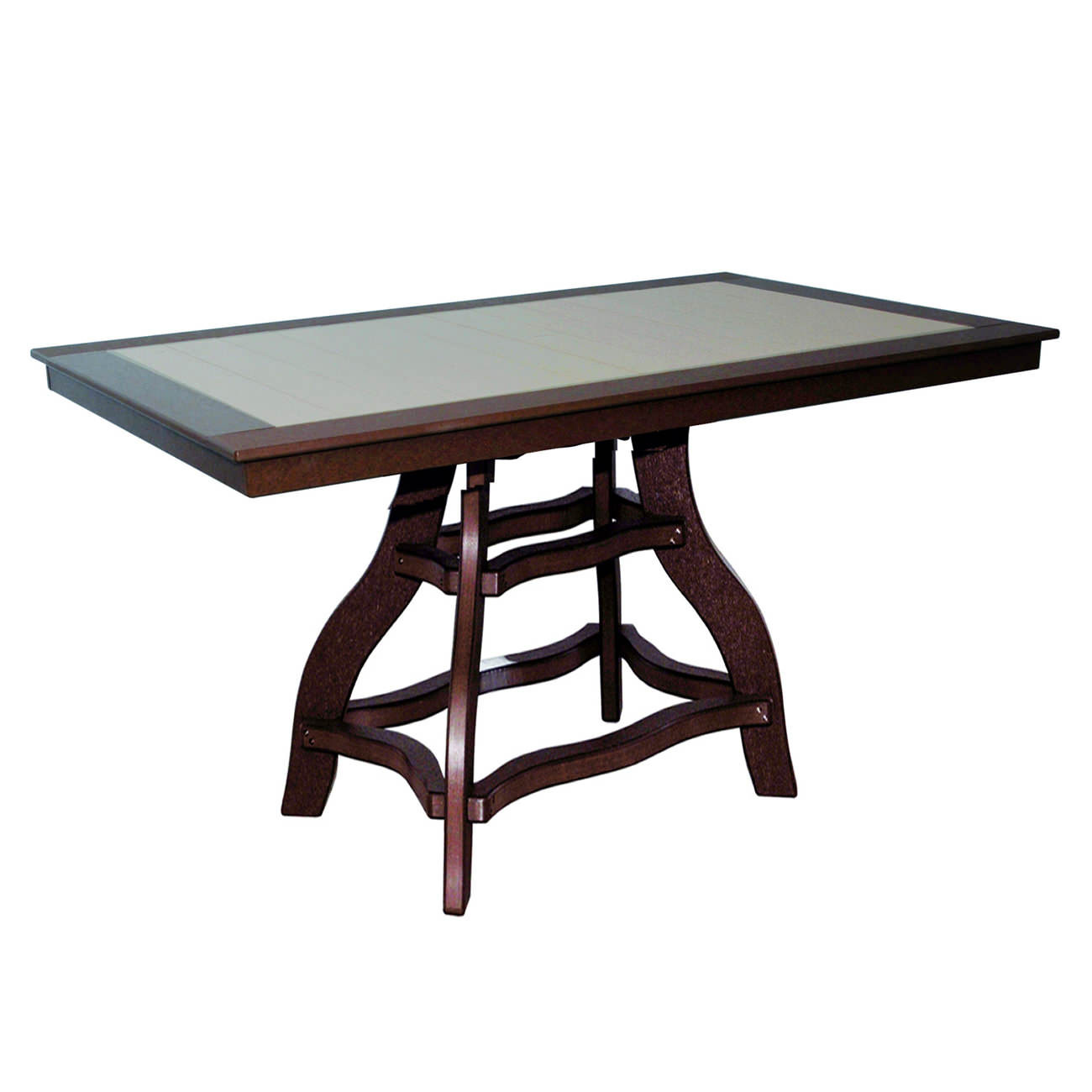 Amish Poly Bar Height 36in x 60in Rectangle Table