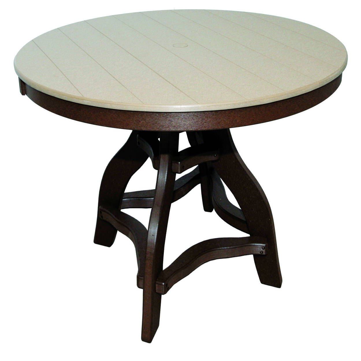 amish poly bar height 44in round table amish poly collections. Black Bedroom Furniture Sets. Home Design Ideas
