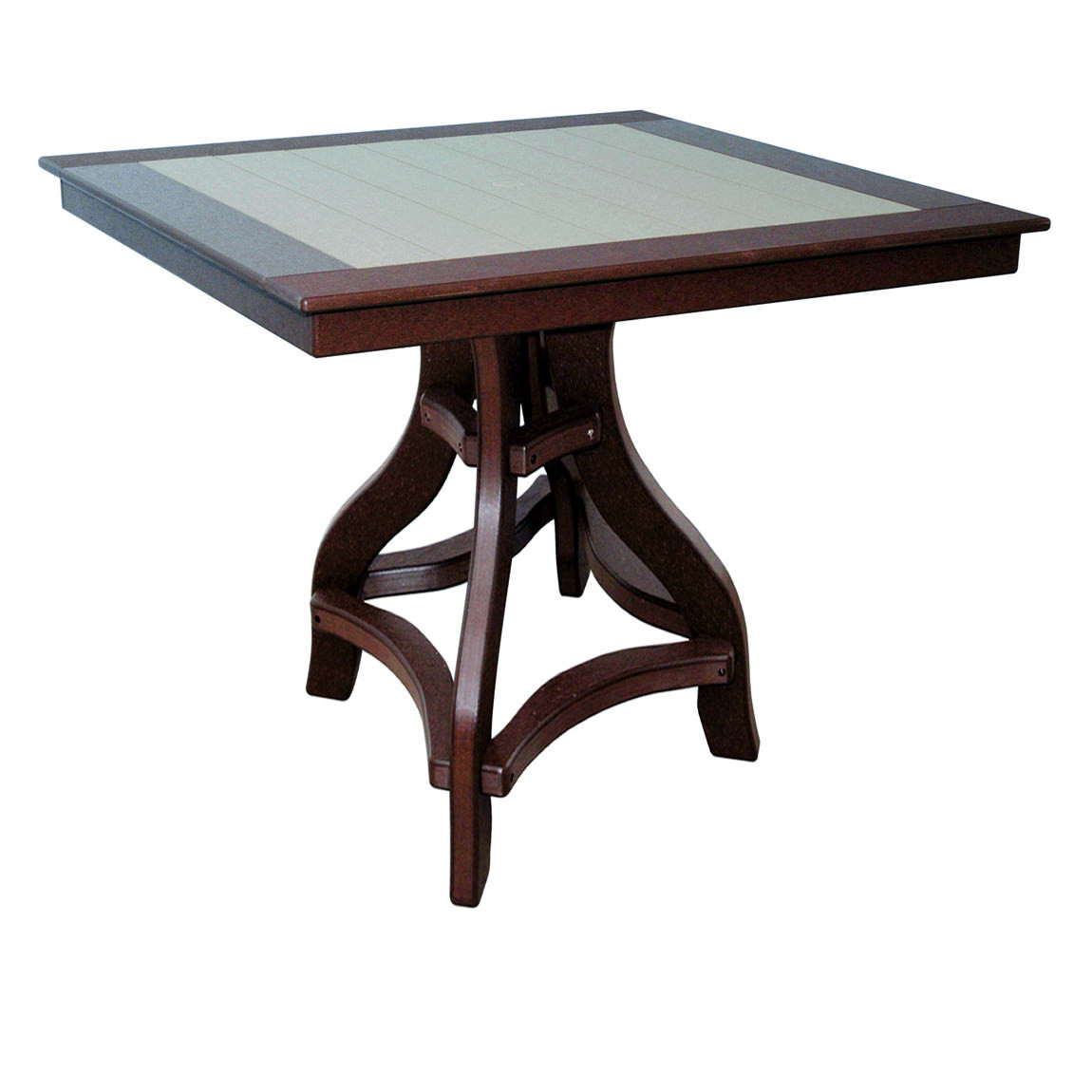 Amish Poly Bar Height 44in Square Table