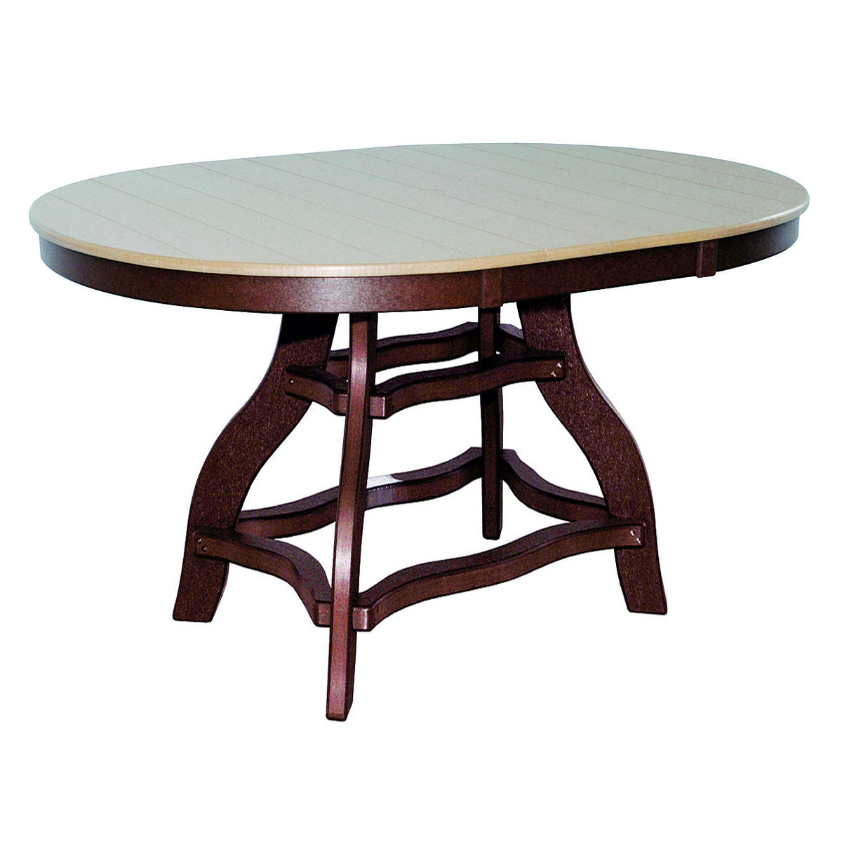 Amish Poly Bar Height 44in x 60in Oval Table