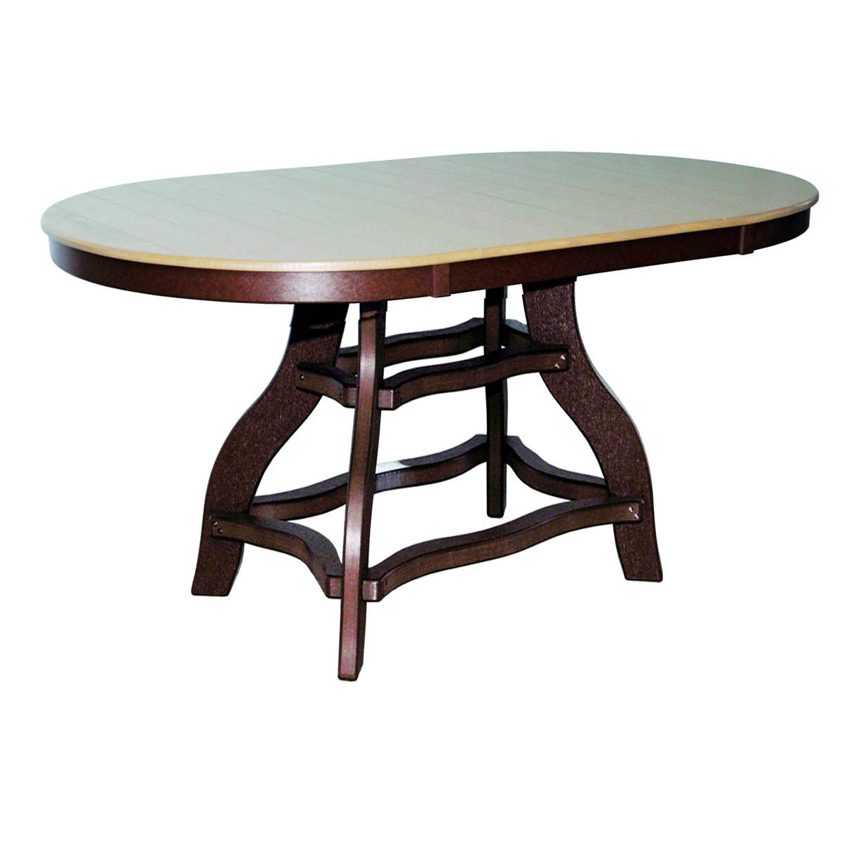 Amish Poly Bar Height 44in x 72in Oval Table