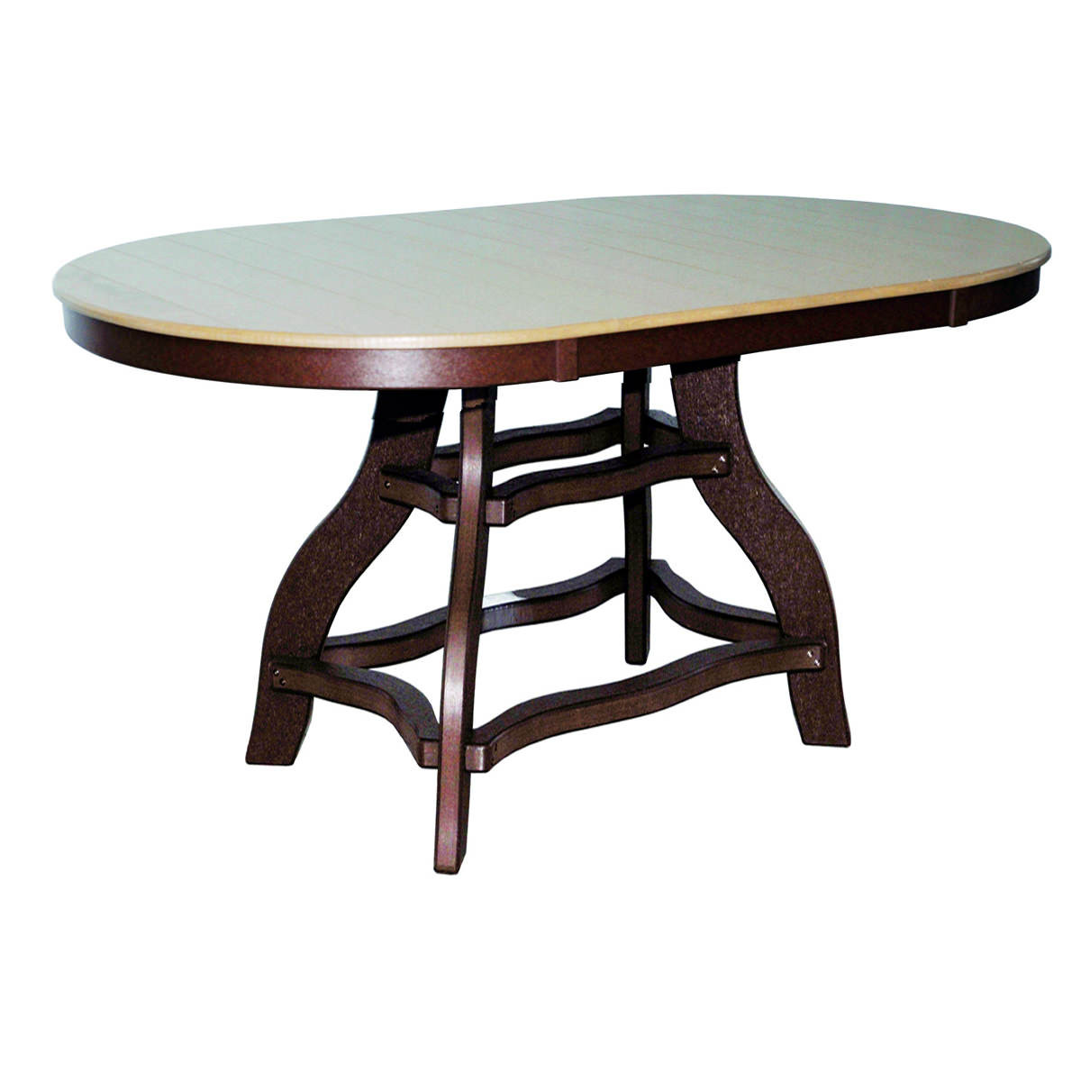 Amish Poly Bar Height 44in x 84in Oval Table