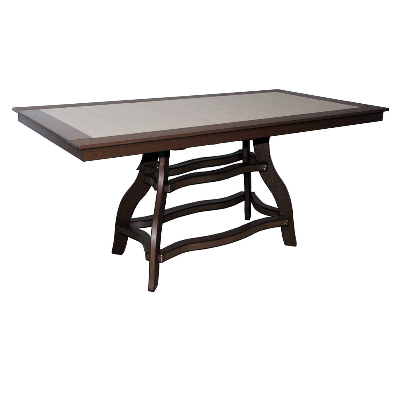 Amish Poly Bar Height 44in x 84in Rectangle Table