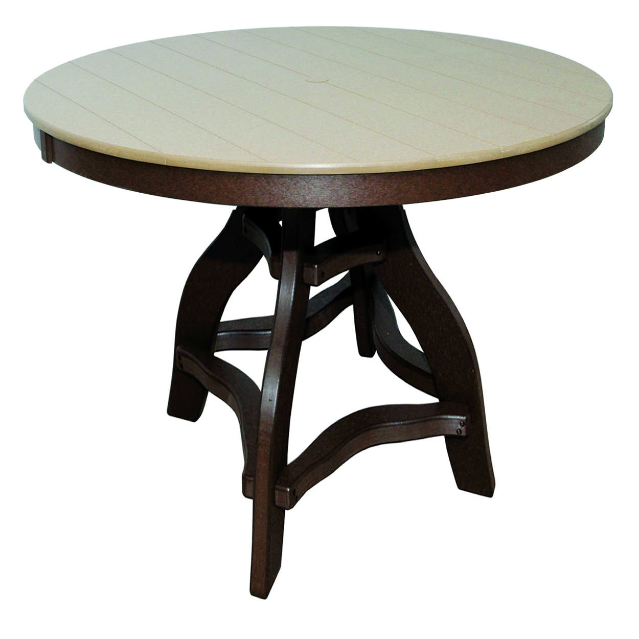 Amish Poly Bar Height 48in Round Table
